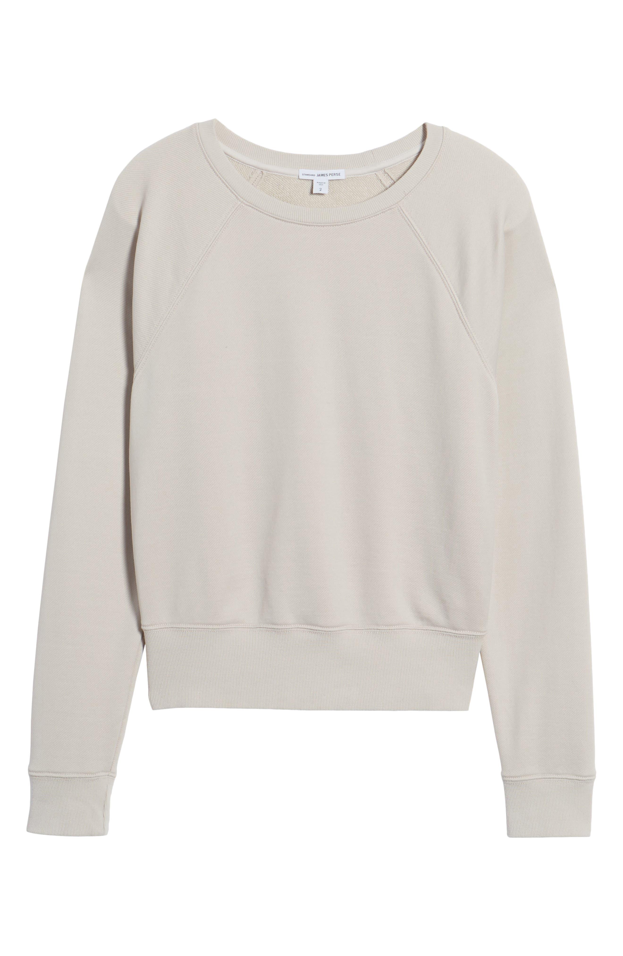Alternate Image 6  - James Perse Shrunken Fleece Sweatshirt