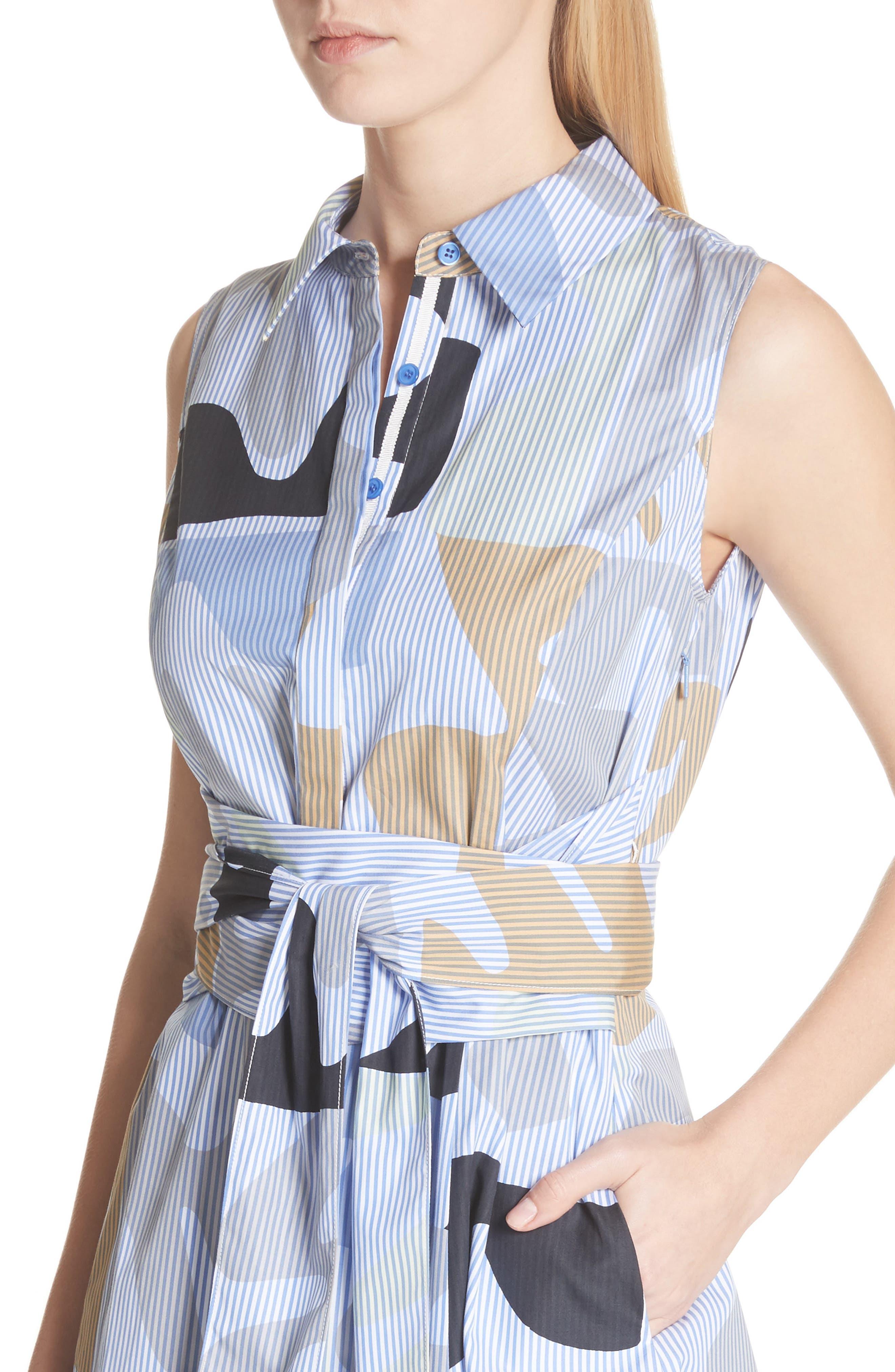 Cordelia Urban Ethos Stripe Dress,                             Alternate thumbnail 4, color,                             Periwinkle Multi