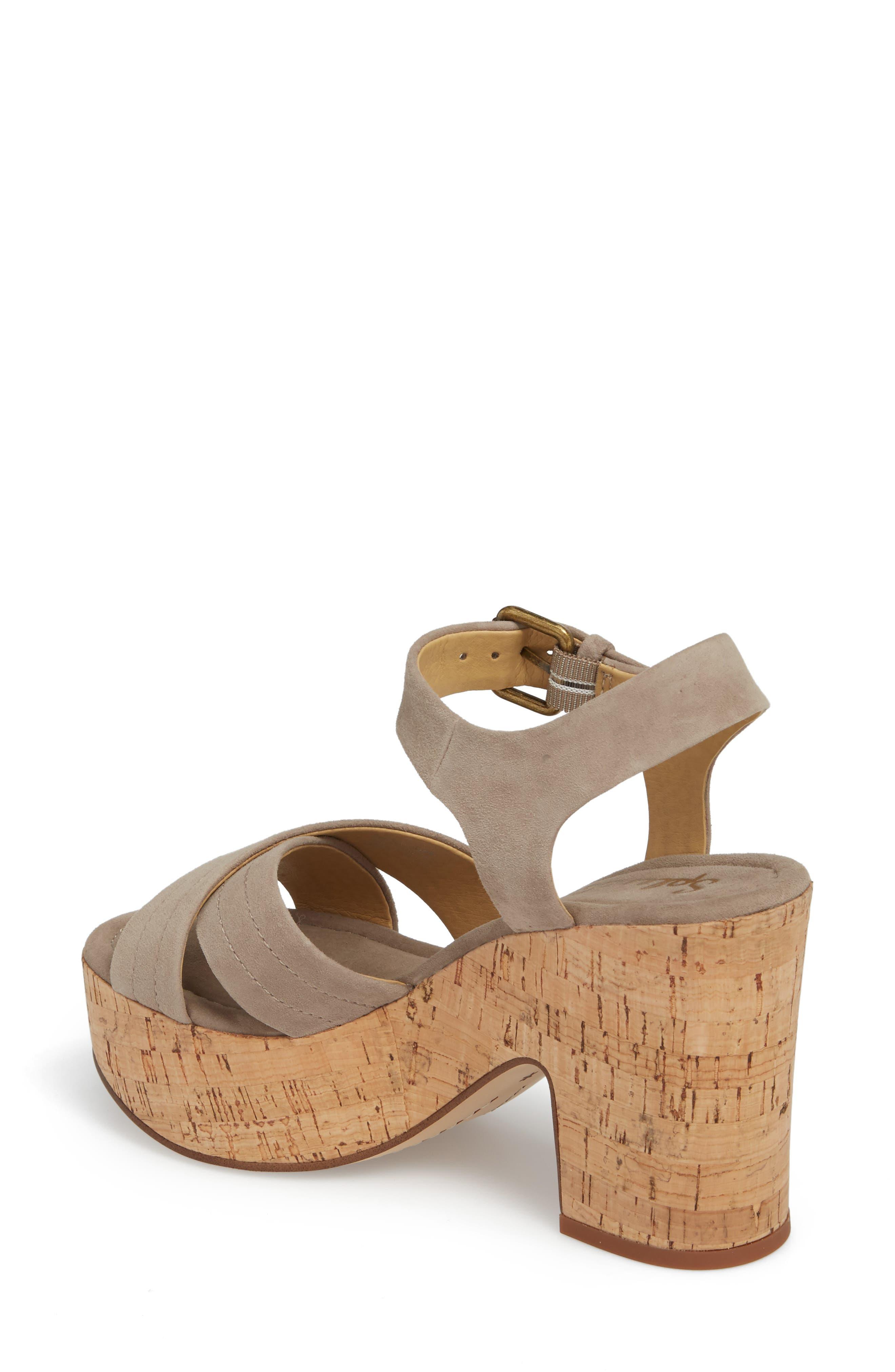Flaire Platform Sandal,                             Alternate thumbnail 2, color,                             Taupe Suede