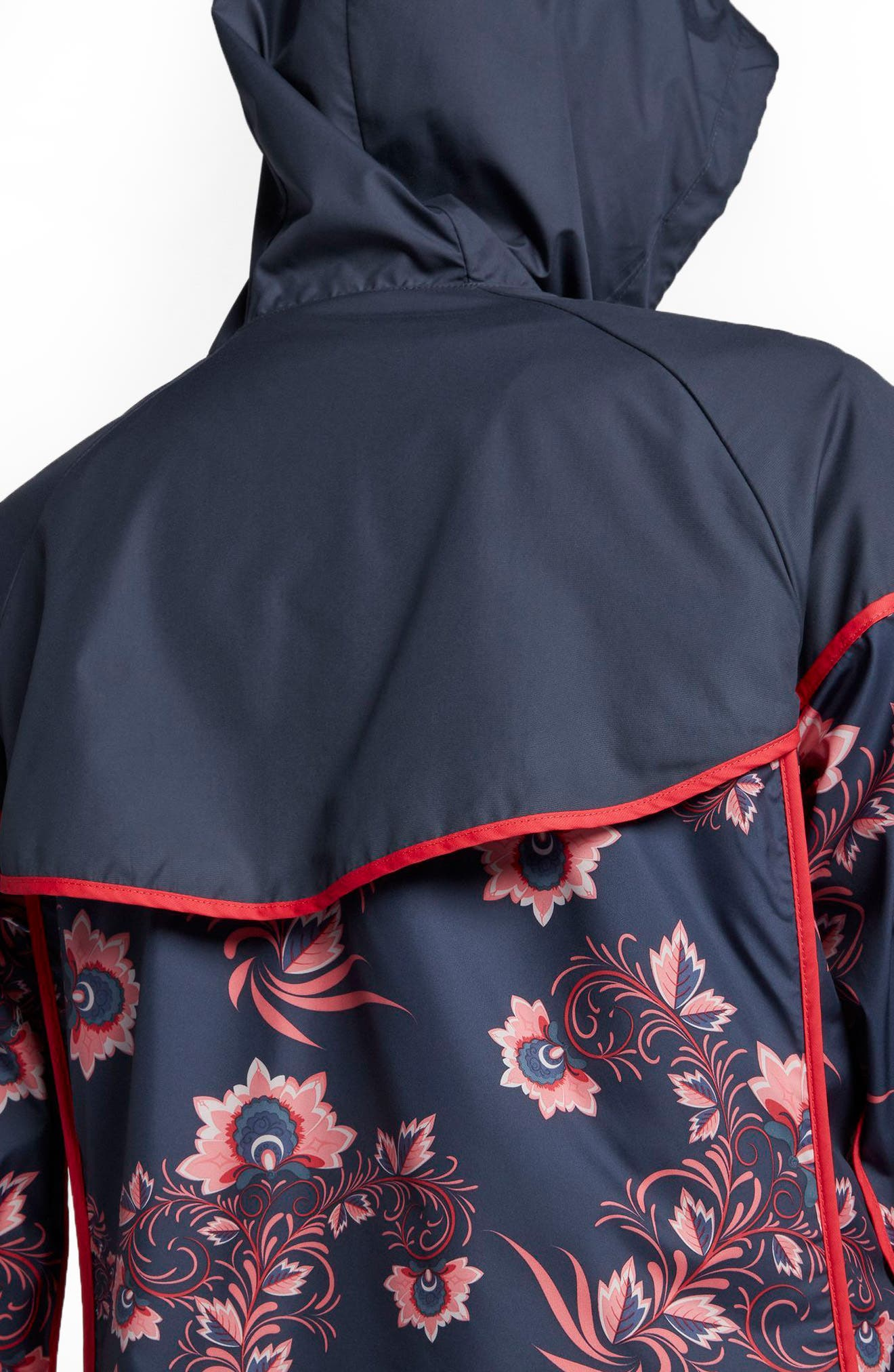 Sportswear Floral Print Track Jacket,                             Alternate thumbnail 3, color,                             Thunder Blue