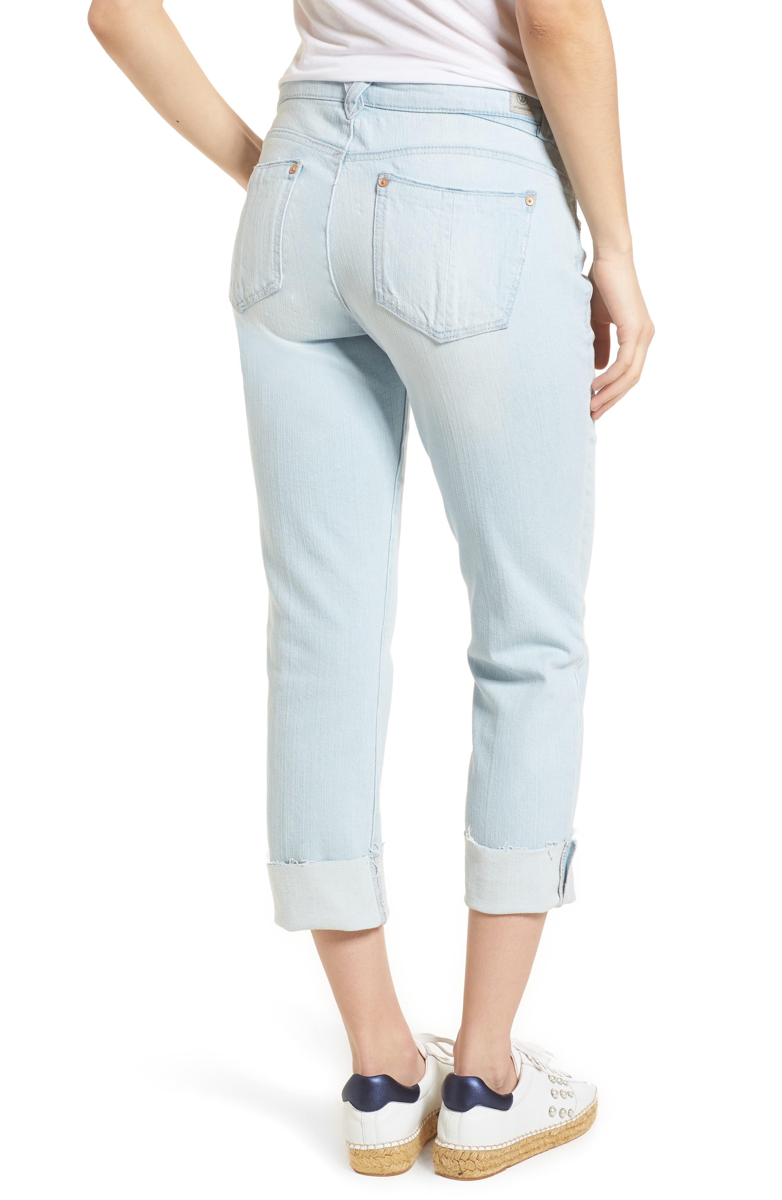 Flex-ellent Distressed Boyfriend Jeans,                             Alternate thumbnail 2, color,                             Light Blue