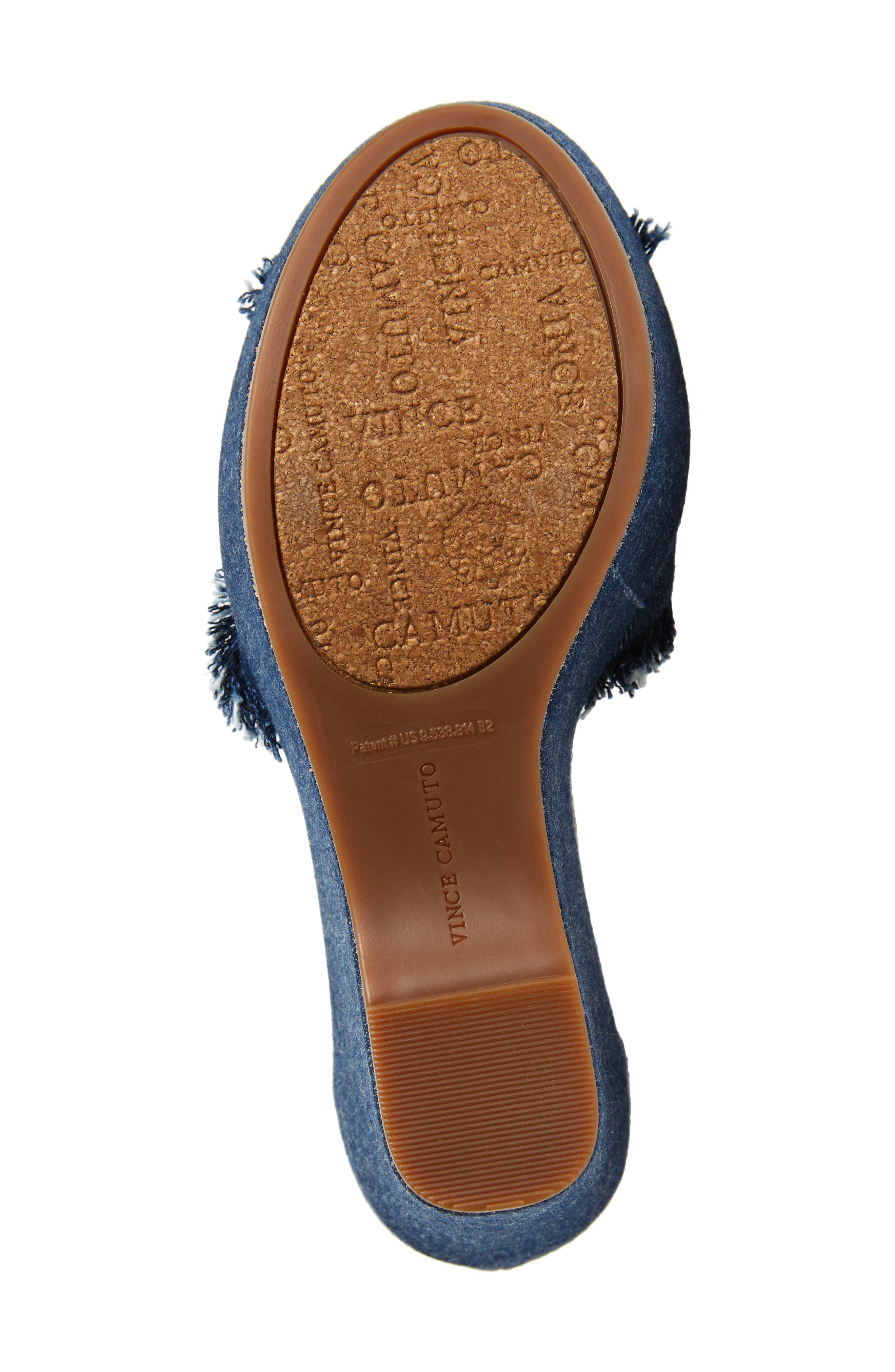Tatchen Ankle Strap Platform Sandal,                             Alternate thumbnail 6, color,                             Dark Blue Denim