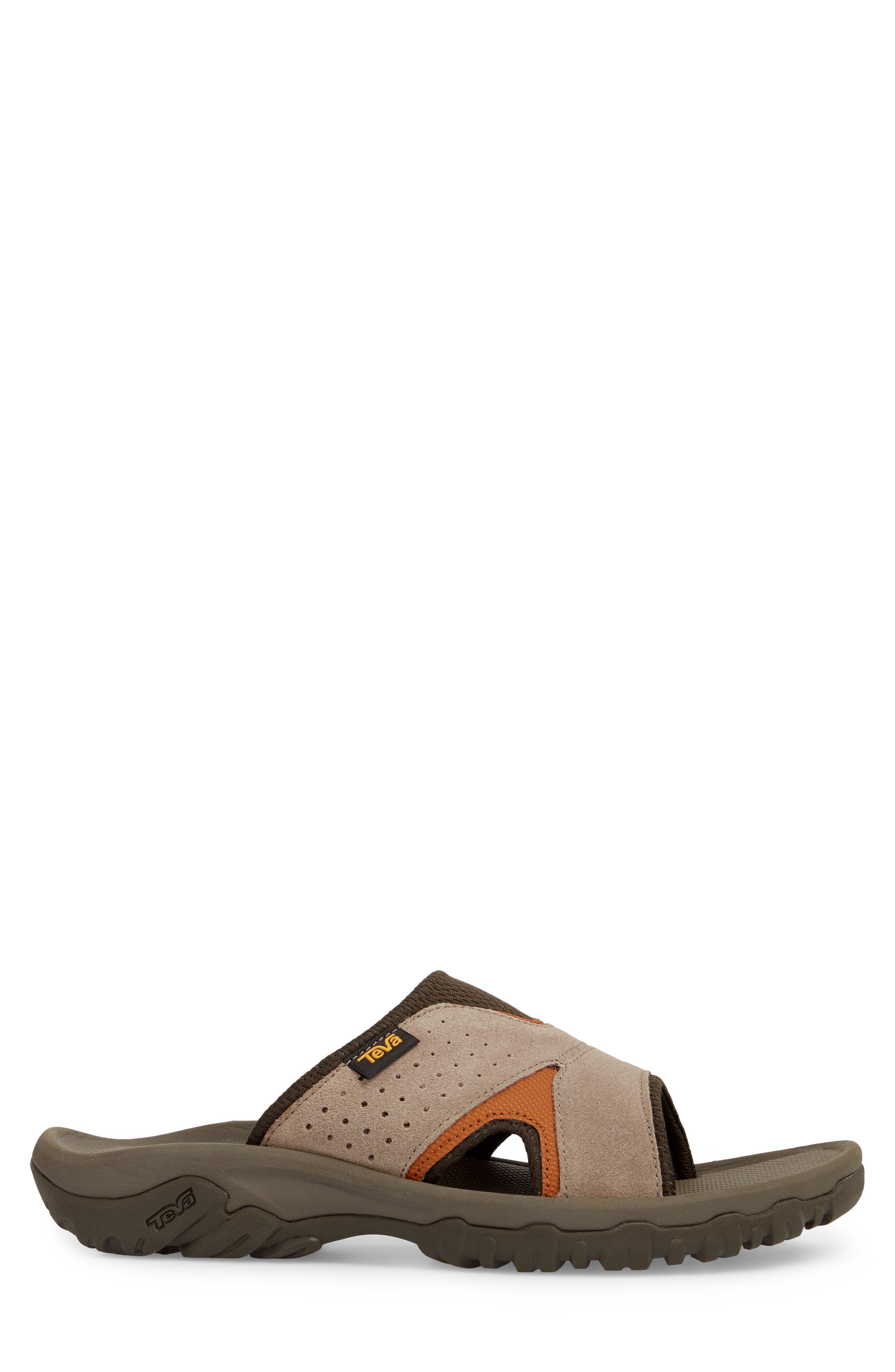 Katavi 2 Slide Sandal,                             Alternate thumbnail 3, color,                             Walnut Suede