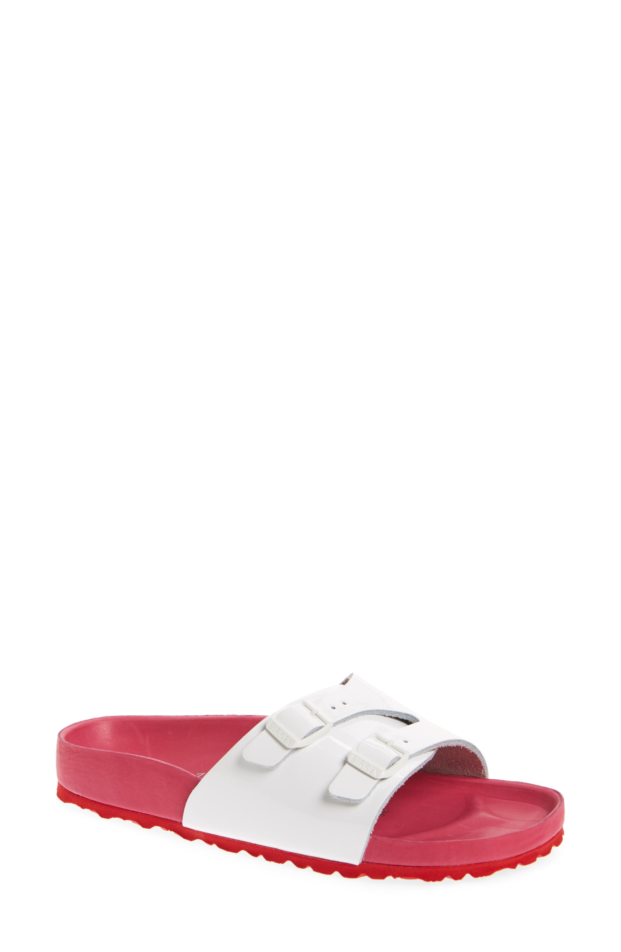Vaduz Exquisite Limited Edition - Shock Drop Sandal,                             Main thumbnail 1, color,                             White Leather