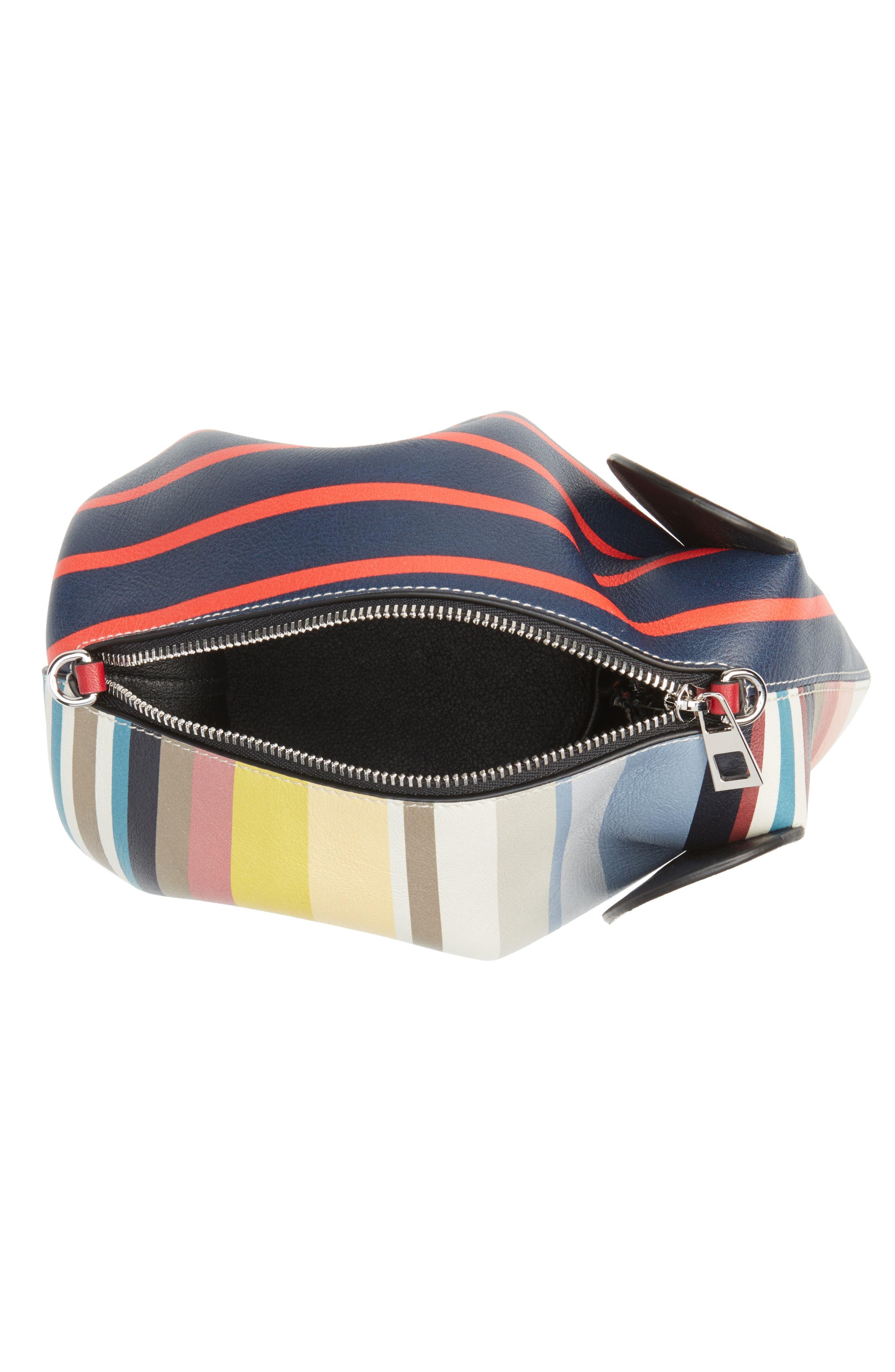 Mini Elephant Calfskin Leather Crossbody Bag,                             Alternate thumbnail 4, color,                             Multicolour