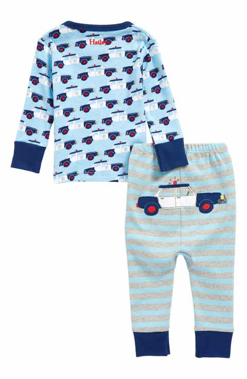 kids pajamas sleepwear nordstrom hatley cop cars organic cotton fitted two piece pajamas baby