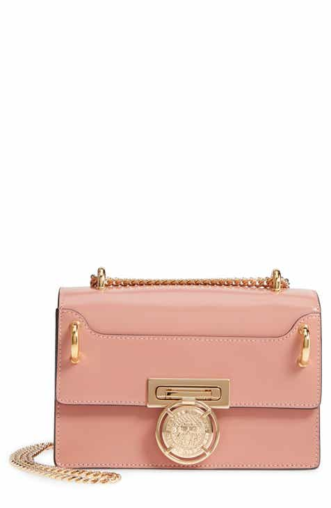 53568440992b Balmain Glace Leather Box Shoulder Bag