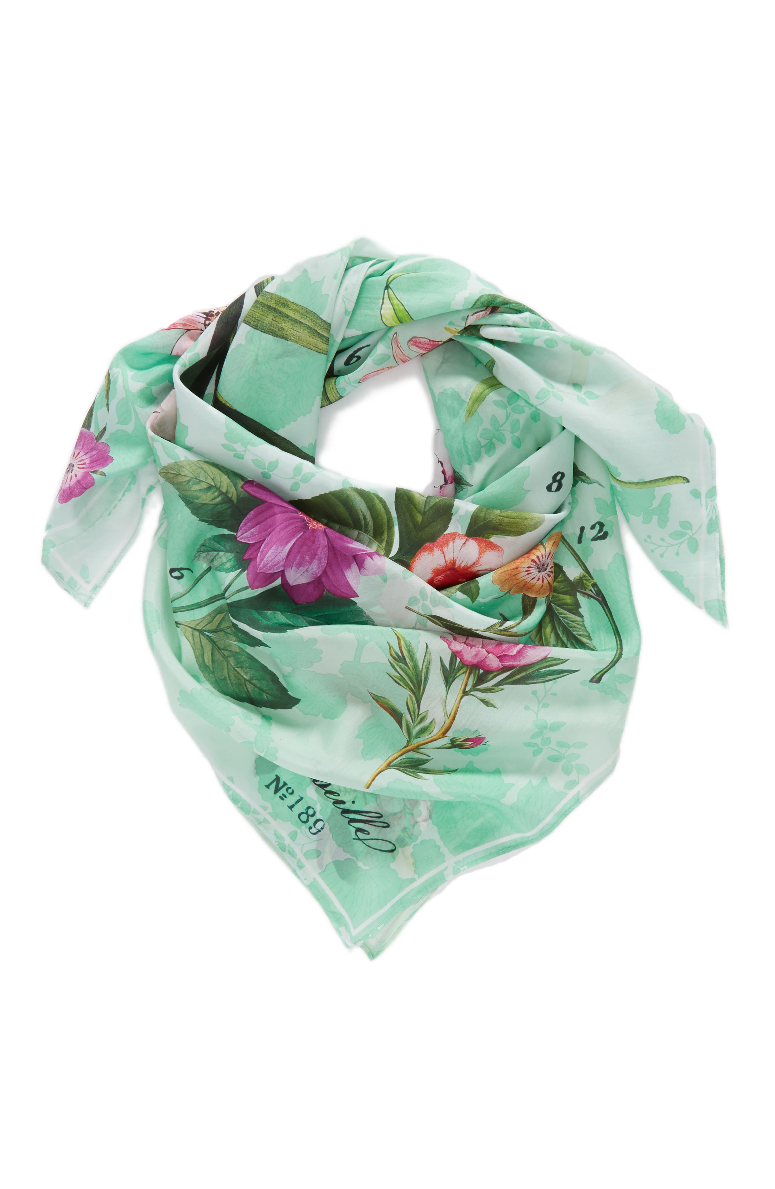 Alternate Image 2  - Nordstrom Print Square Silk Scarf