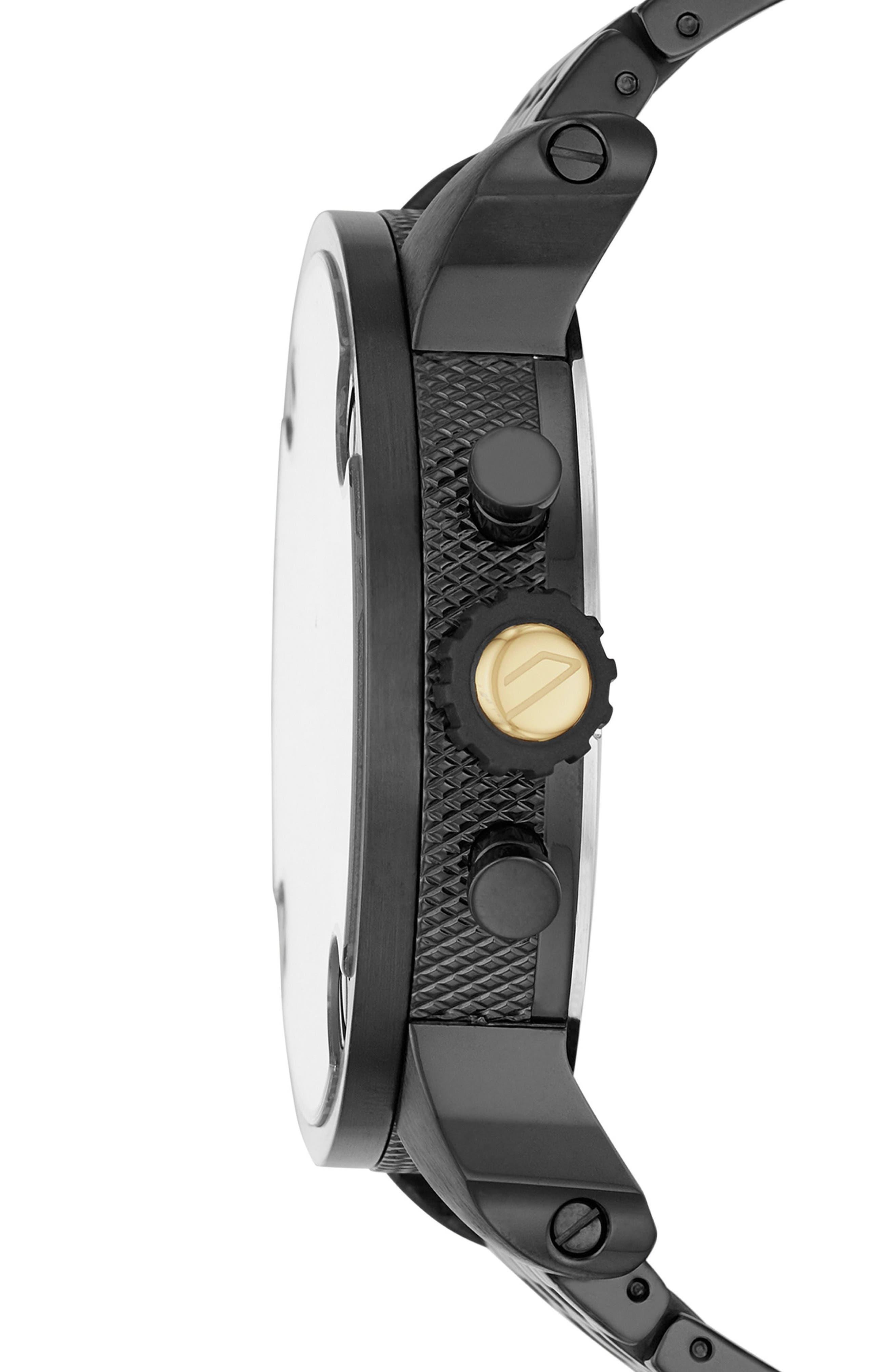 Little Daddy Chronograph Bracelet Watch, 52mm,                             Alternate thumbnail 2, color,                             Gunmetal/ Black