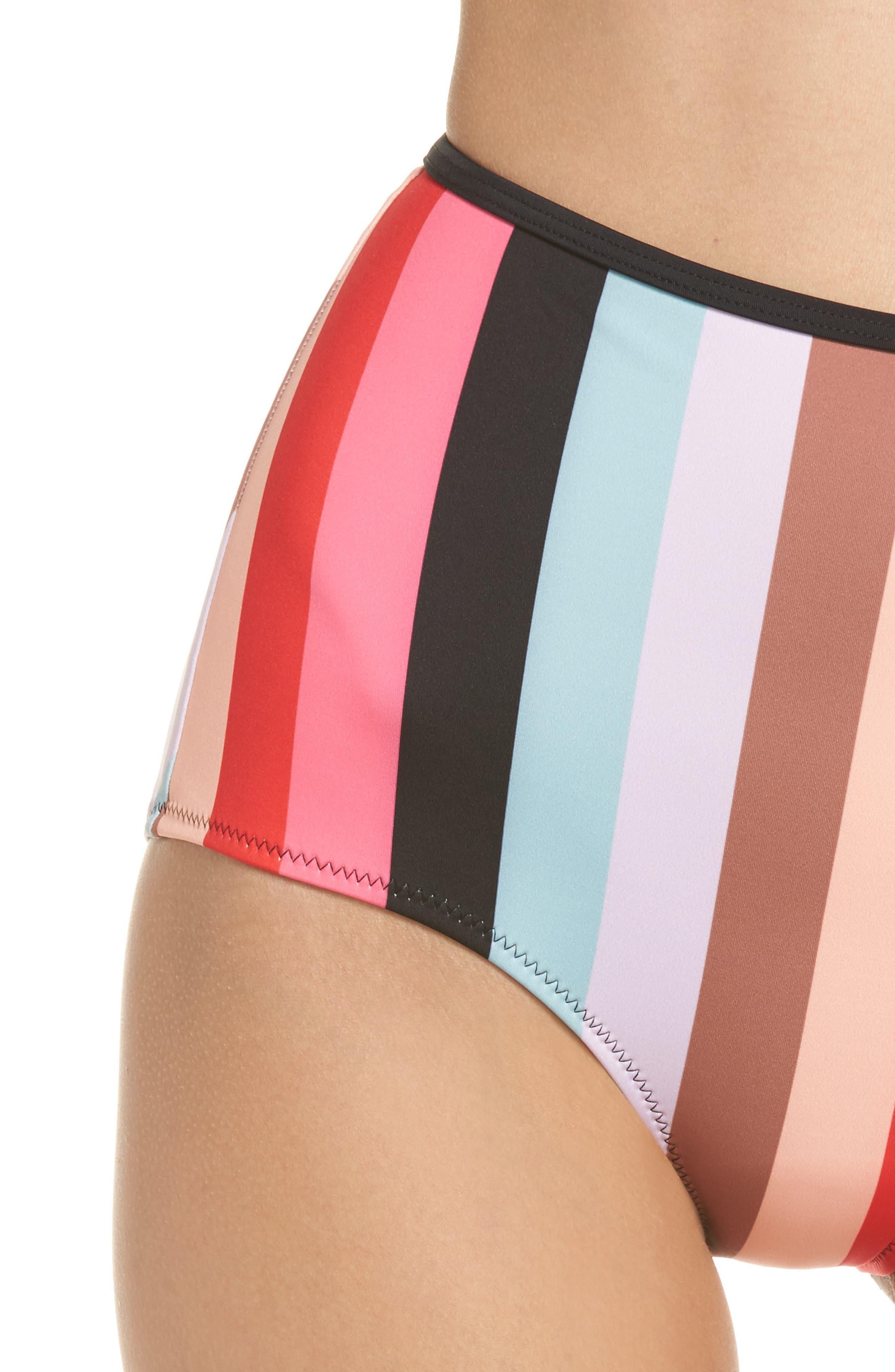 The Brigitte Bikini Bottoms,                             Alternate thumbnail 4, color,                             Red Multi