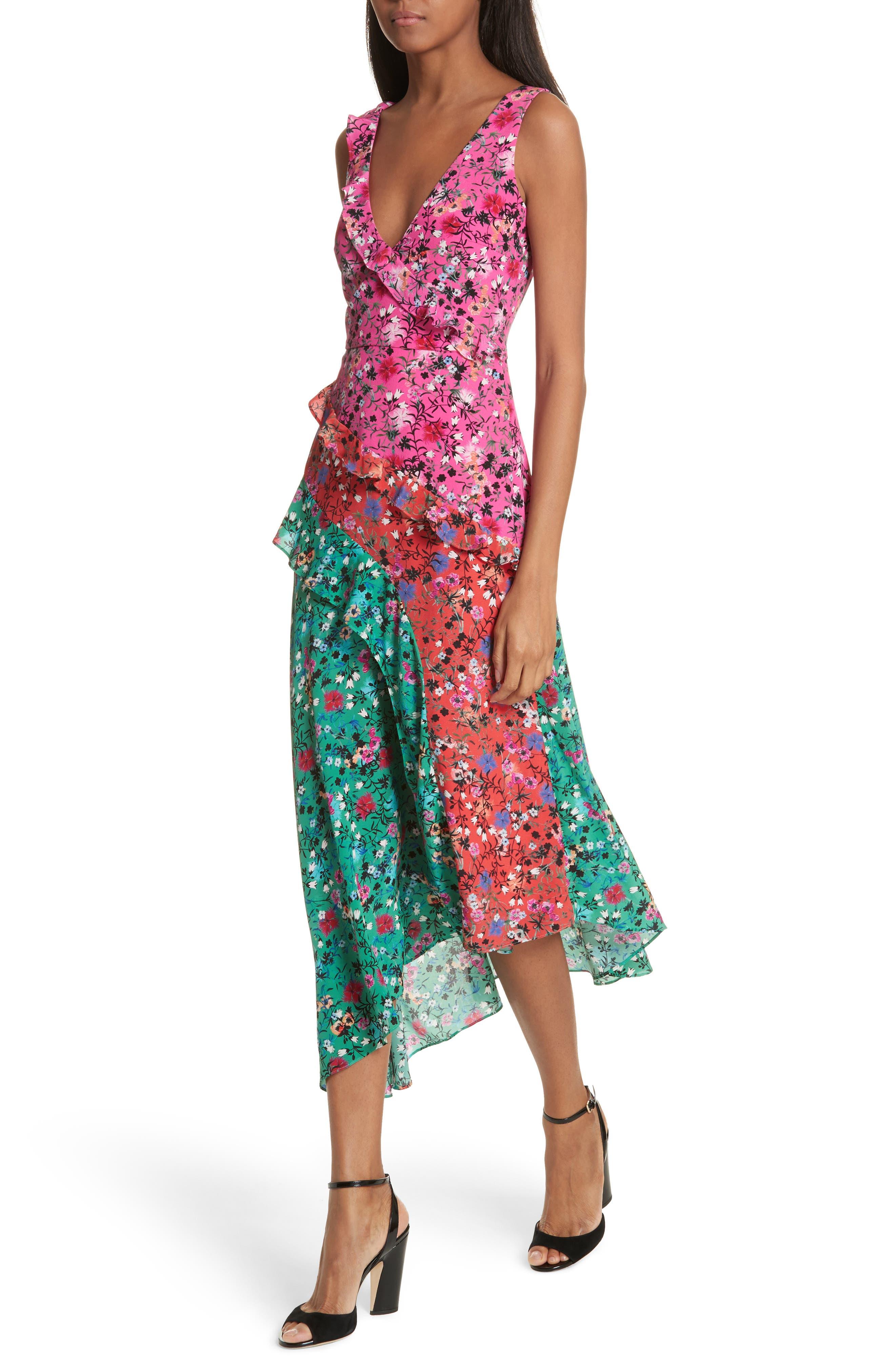 Alternate Image 4  - SALONI Aggie Floral Print Silk Dress