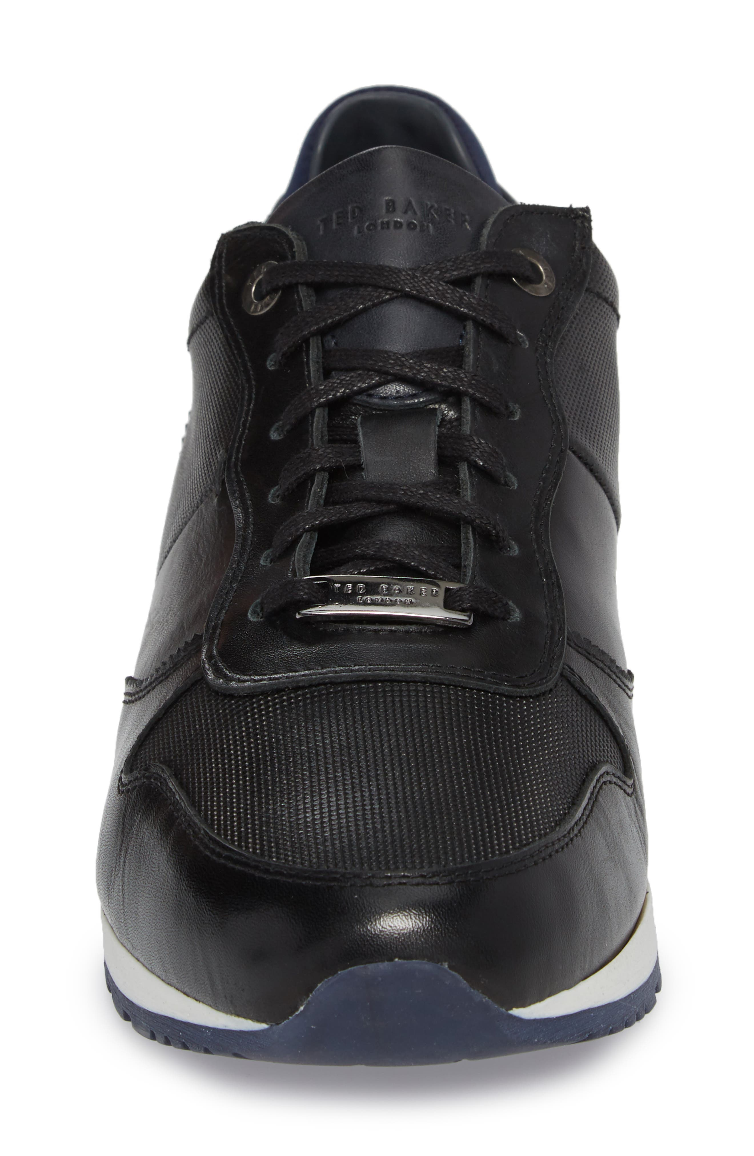Shindl Sneaker,                             Alternate thumbnail 4, color,                             Black Leather
