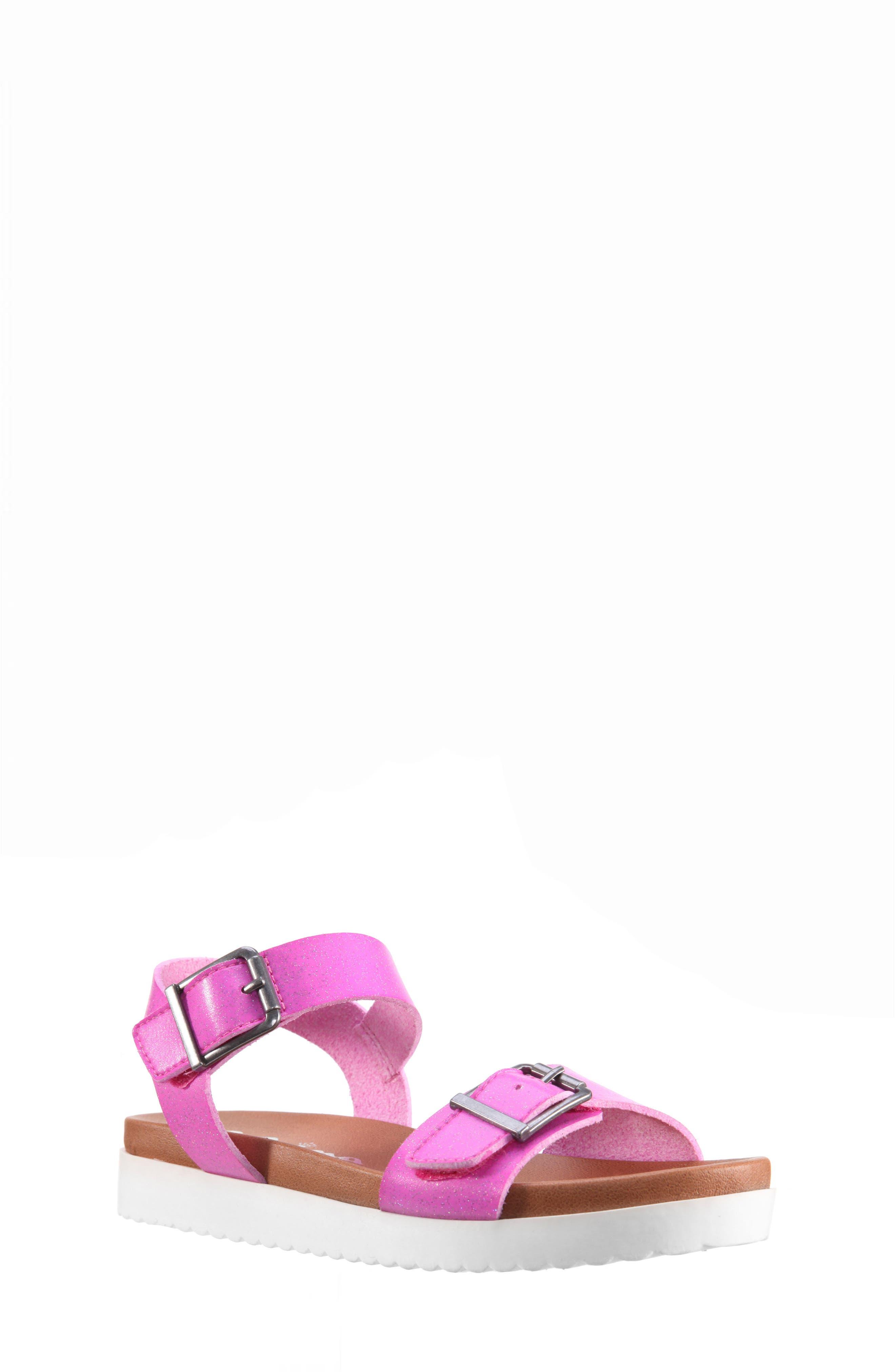 Jacklin3 Quarter Strap Sandal,                             Main thumbnail 1, color,                             Pink Dip Dye