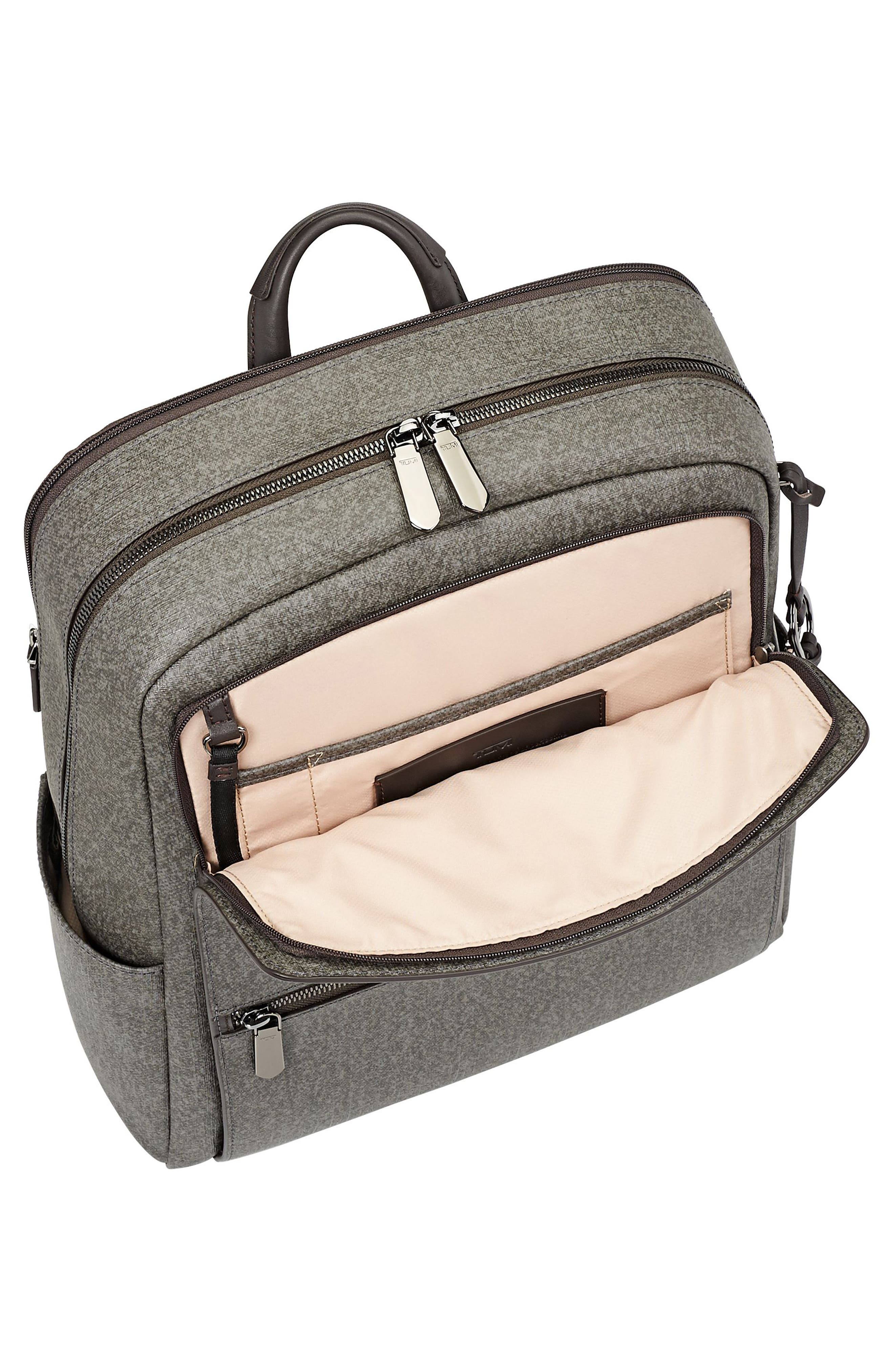 Stanton Becca Coated Canvas Backpack,                             Alternate thumbnail 3, color,                             Earl Grey