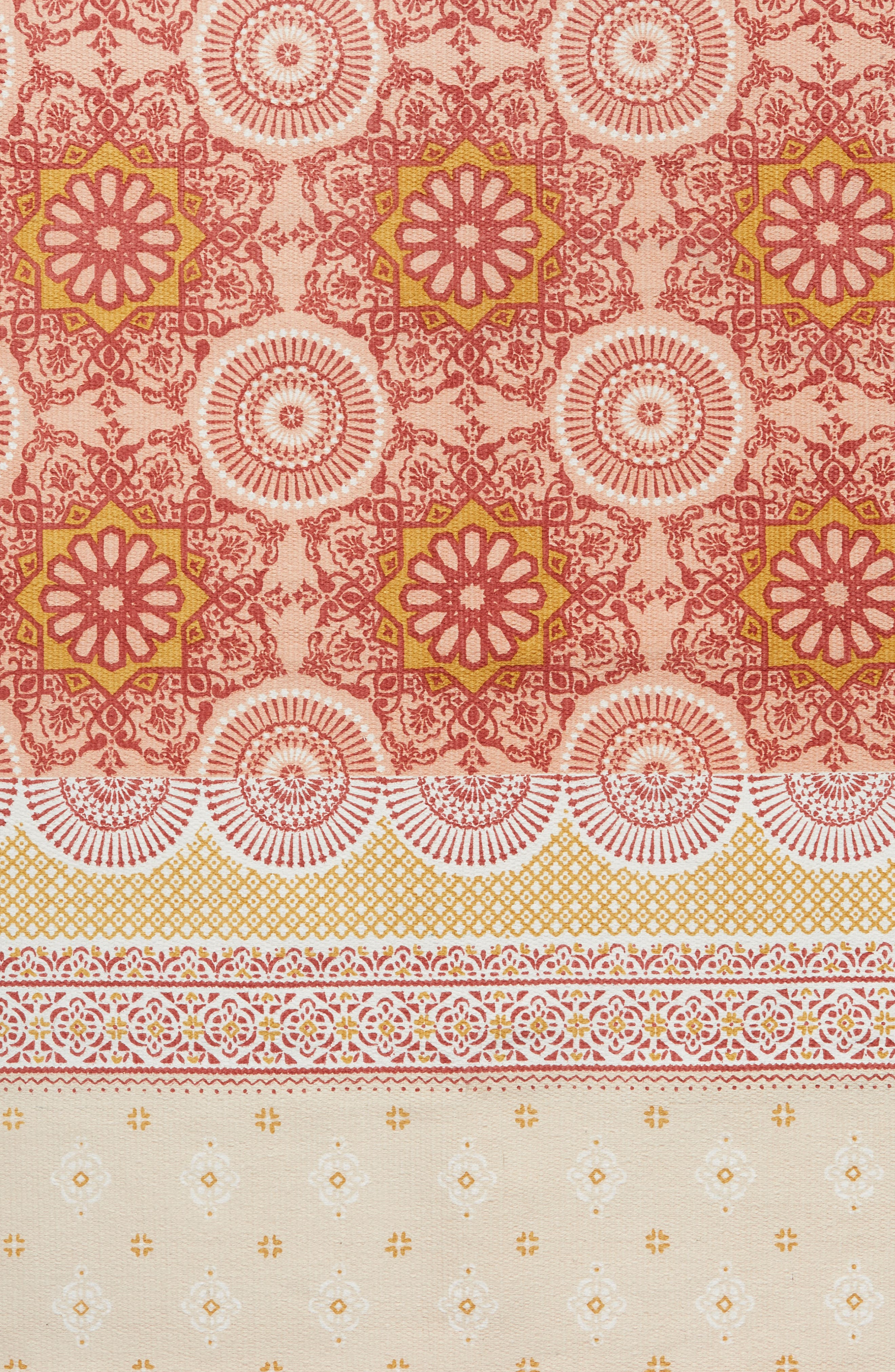 Moroccan Rug,                             Alternate thumbnail 2, color,                             Coral Muted