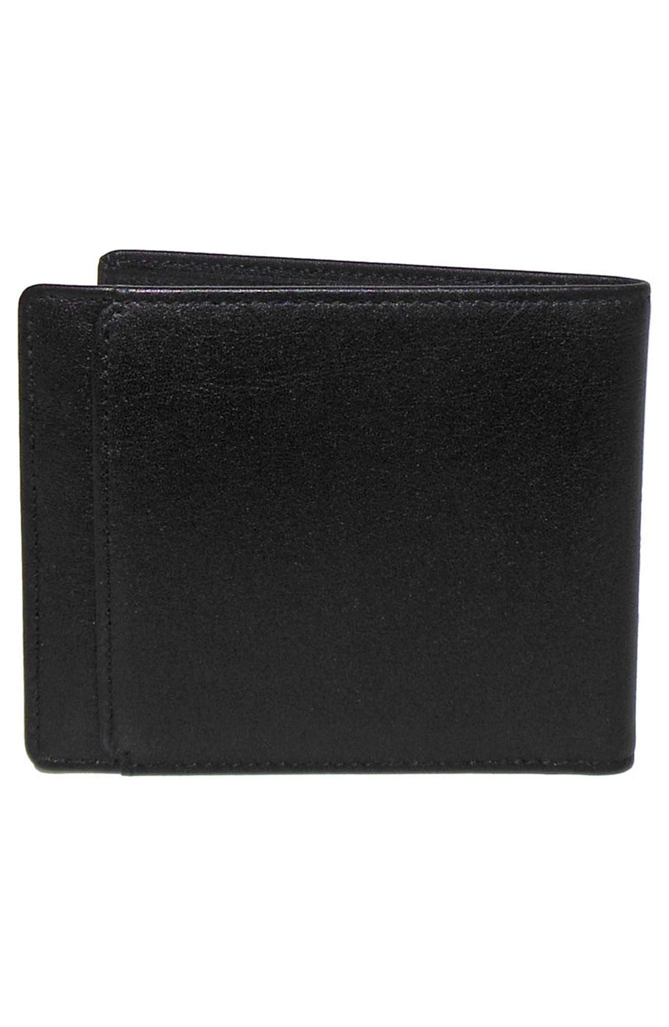 Grant Leather Wallet,                             Alternate thumbnail 4, color,                             Black