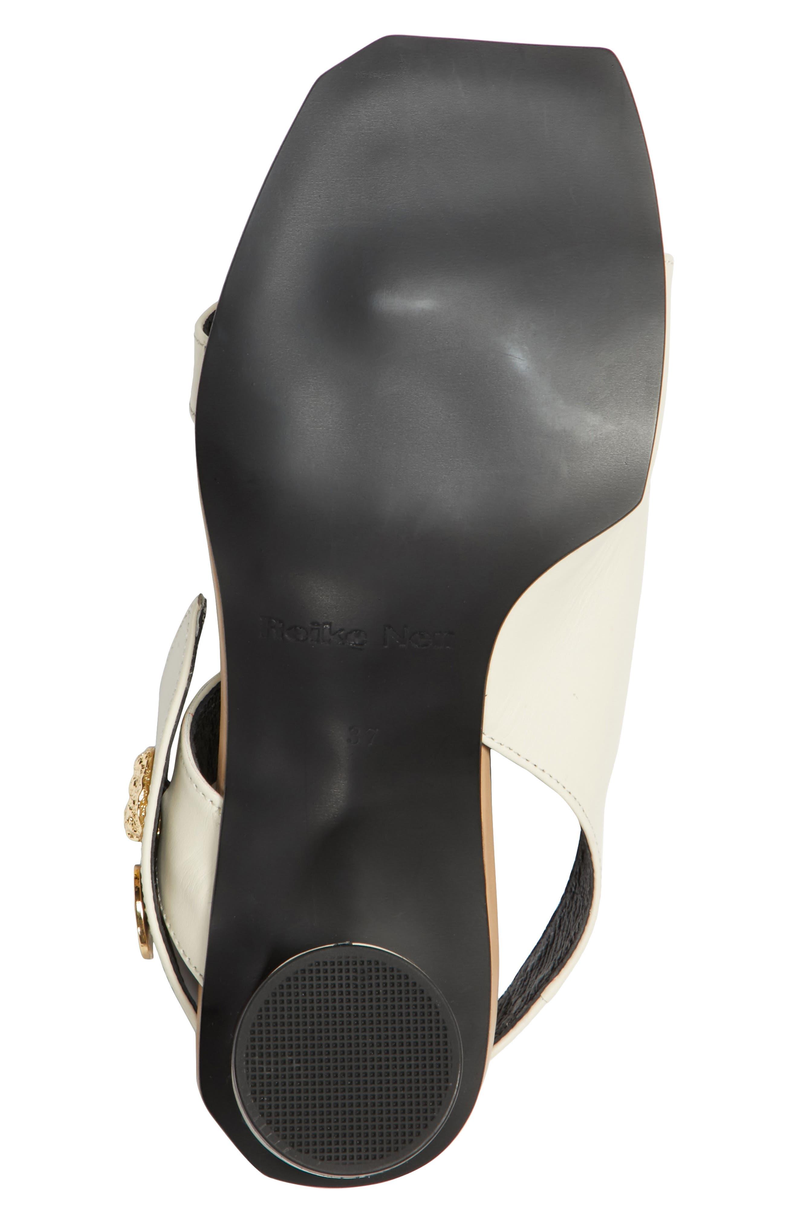 Embellished Leather Sandal,                             Alternate thumbnail 7, color,                             Beige Cream