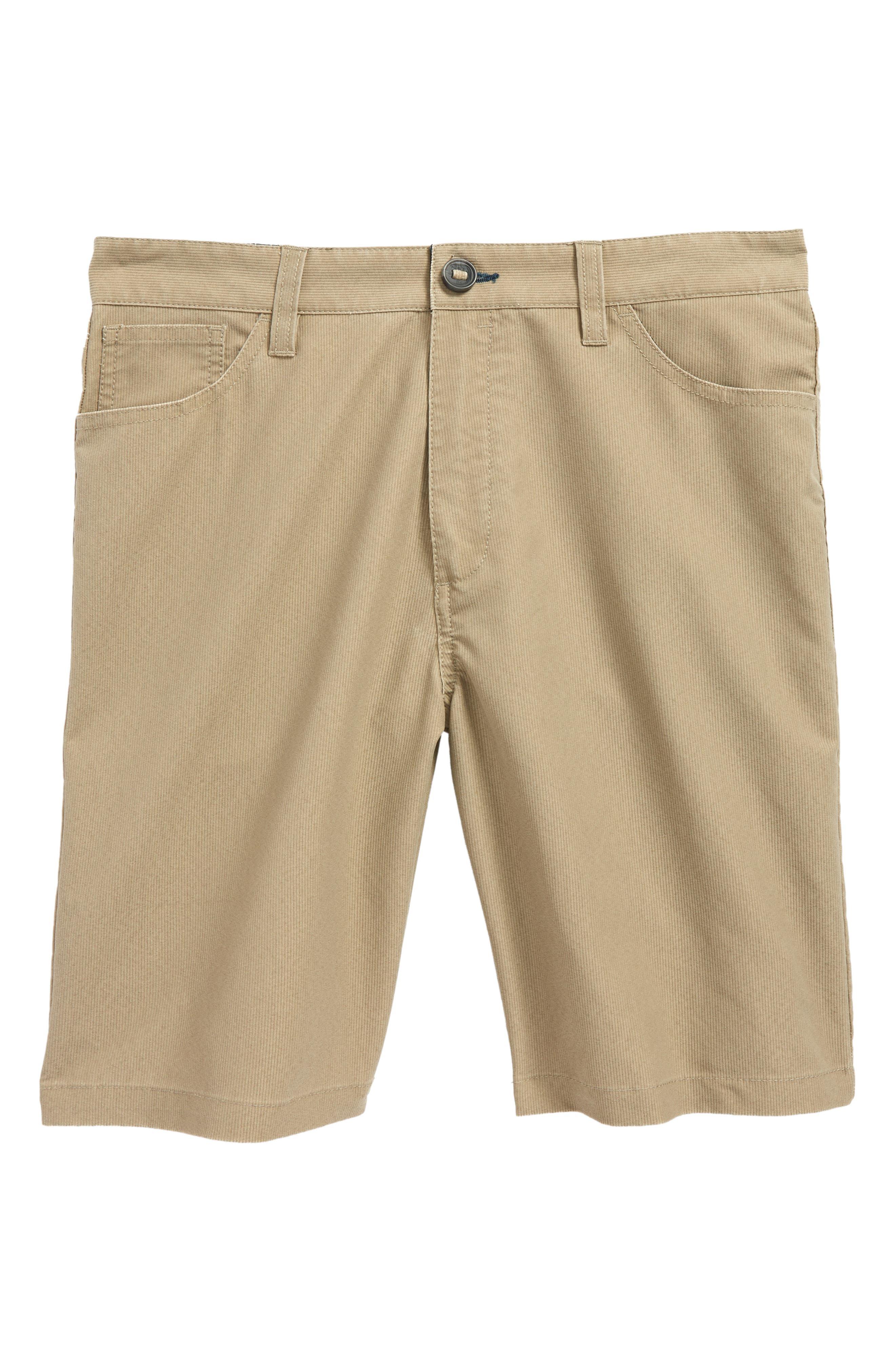 Outsider X Surf Corduroy Hybrid Shorts,                             Main thumbnail 1, color,                             Khaki