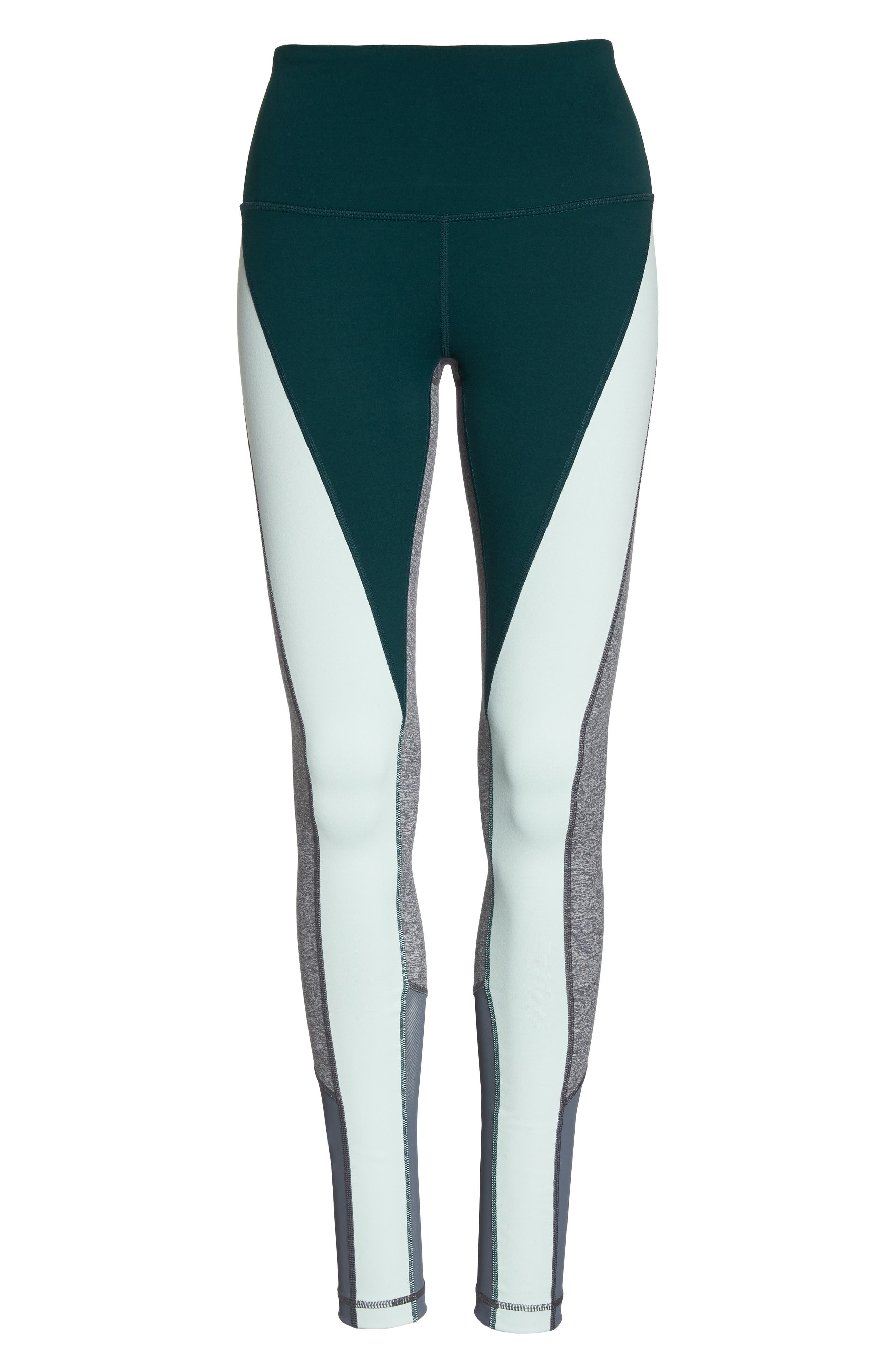 Get in Line High Waist Leggings,                             Alternate thumbnail 7, color,                             Green Ponderosa