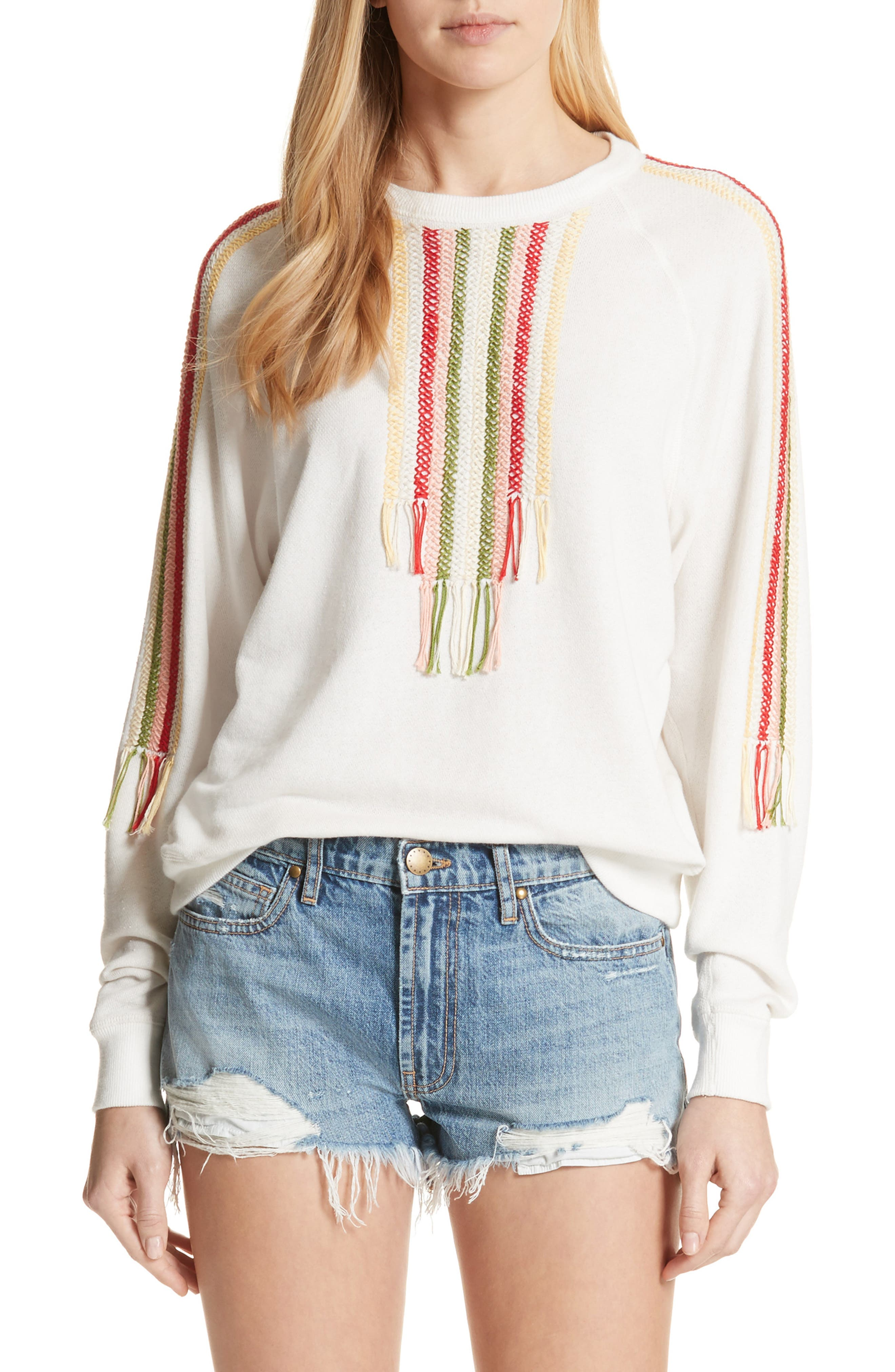 The College Sweatshirt,                         Main,                         color, White