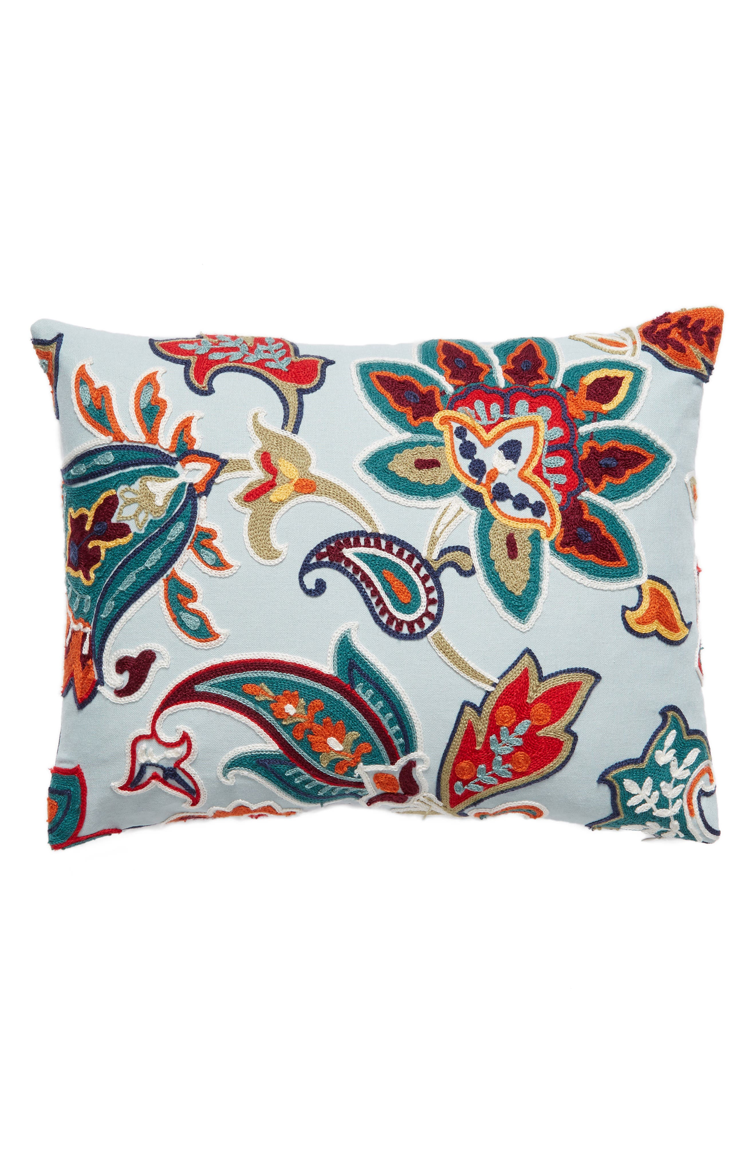 Carla Accent Pillow,                             Main thumbnail 1, color,                             Blue