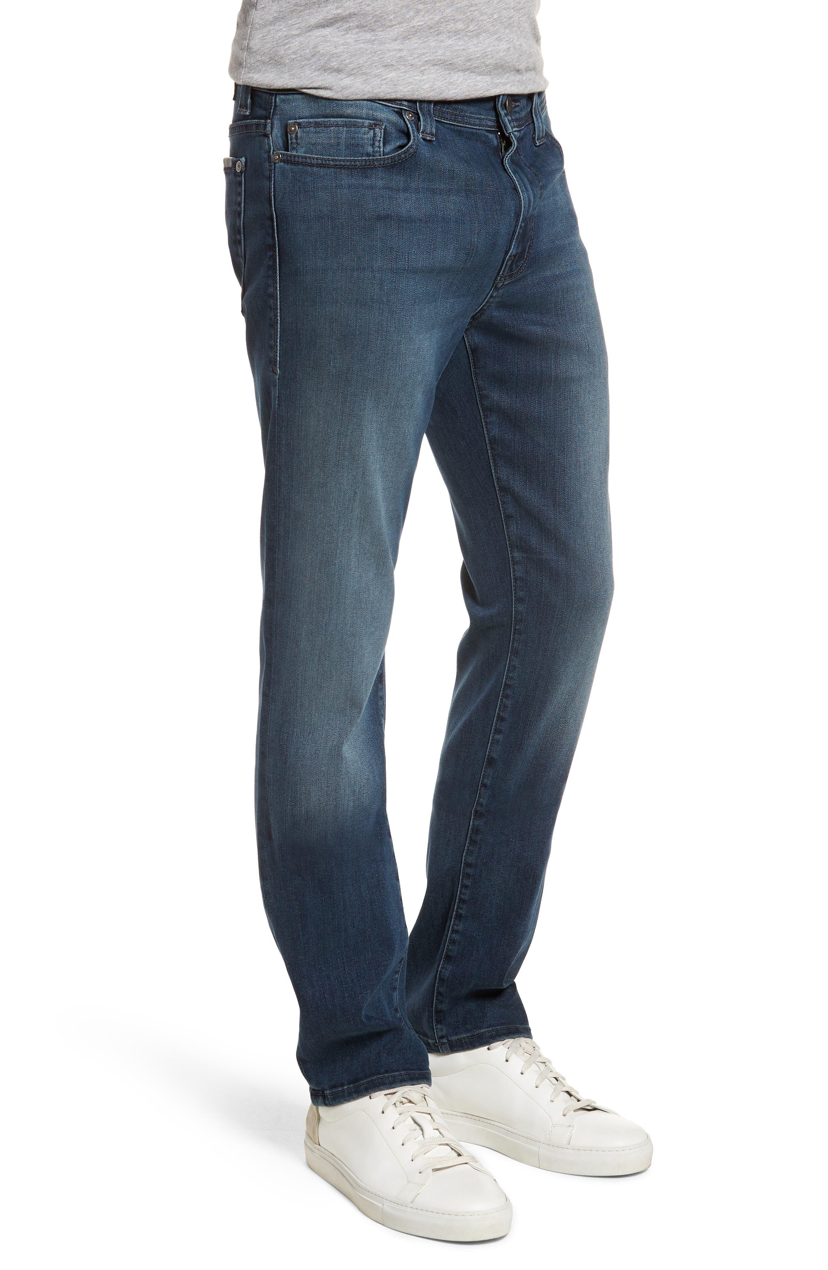 Jimmy Slim Straight Leg Jeans,                             Alternate thumbnail 3, color,                             Atlas Blue