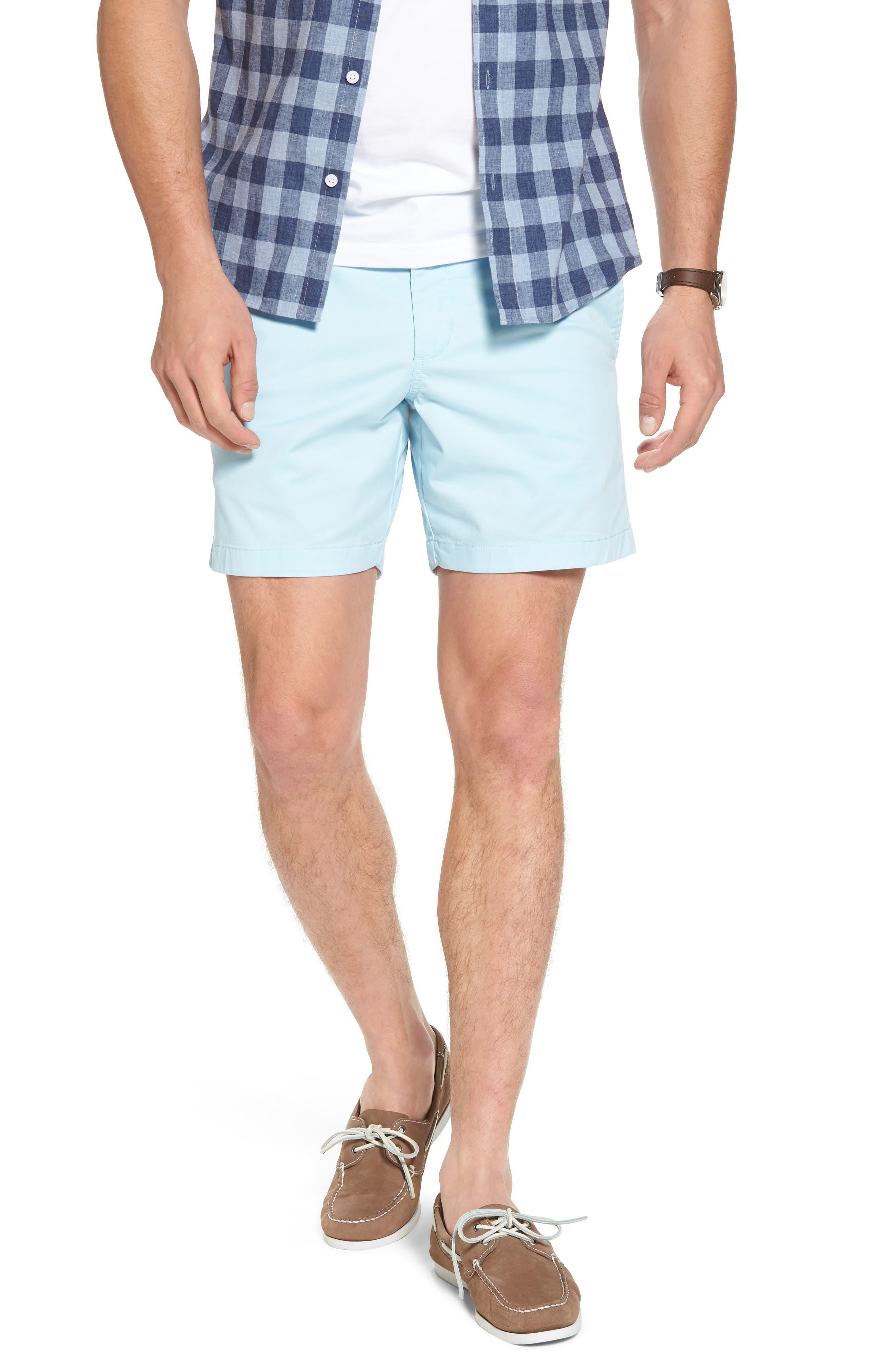 Ballard Slim Fit Stretch Chino 7-Inch Shorts,                         Main,                         color, Blue Orydalis