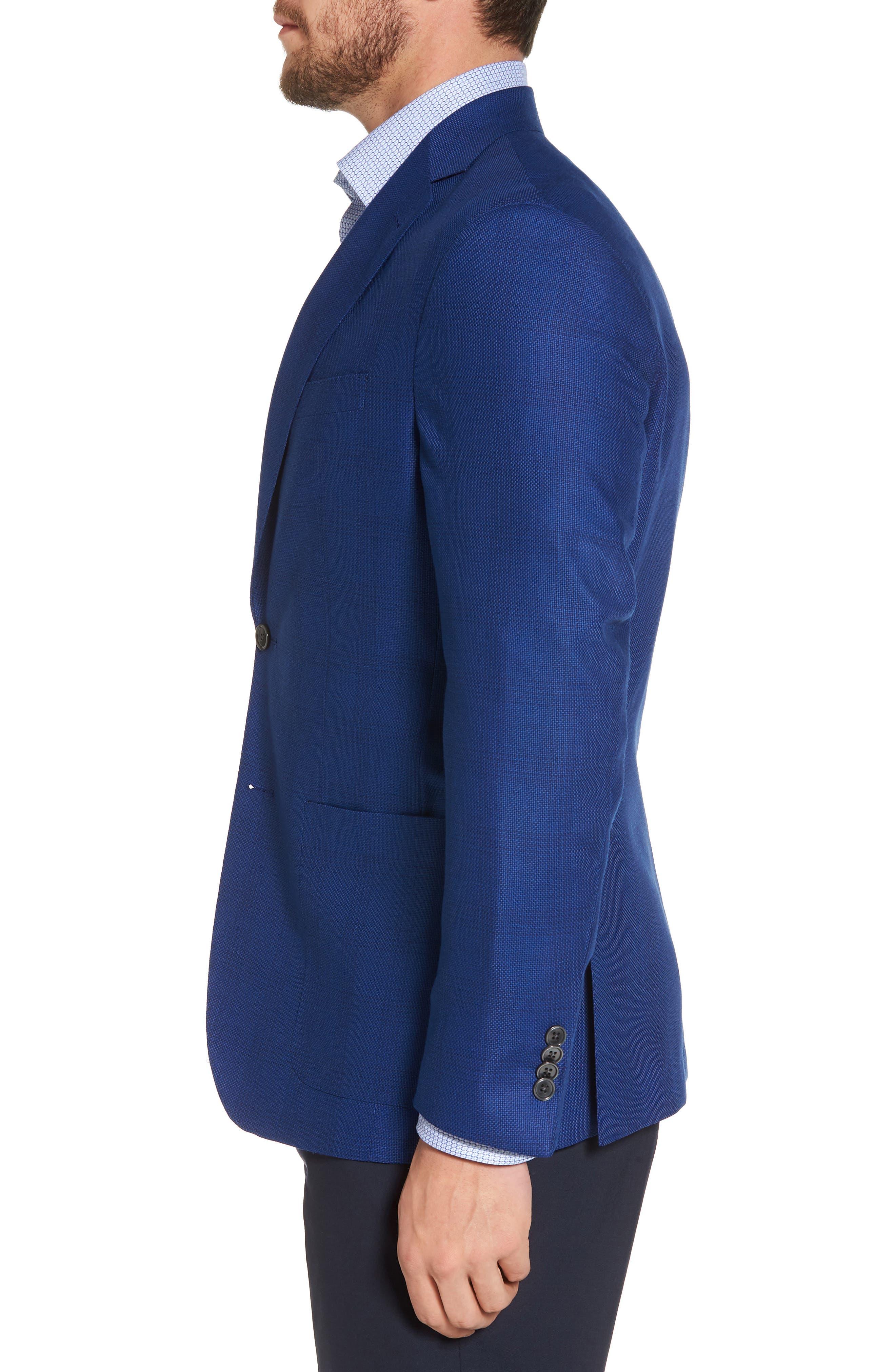 Aiden Classic Fit Sport Coat,                             Alternate thumbnail 3, color,                             Medium Blue