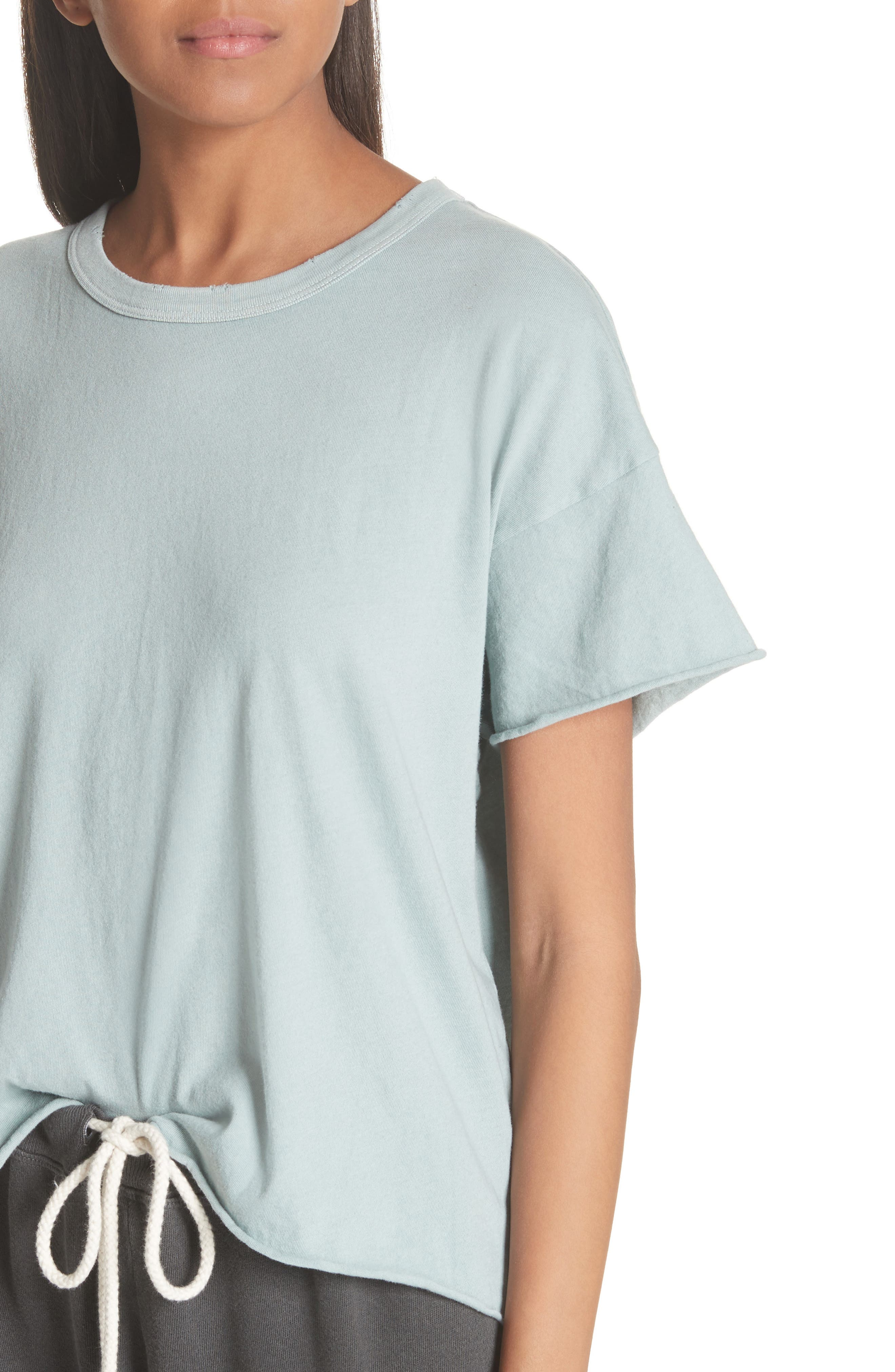 The Crop Tee,                             Alternate thumbnail 4, color,                             Sea Glass