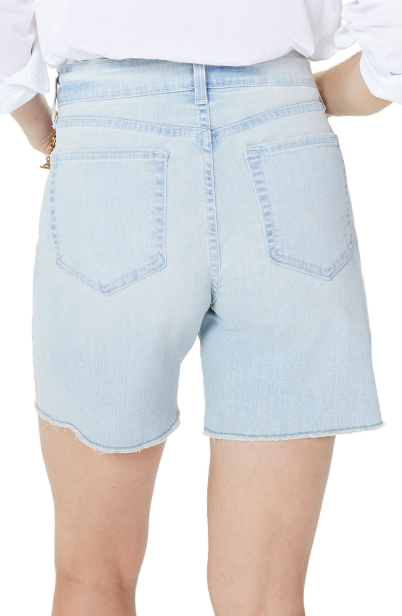 Jenna Frayed Denim Shorts,                             Alternate thumbnail 2, color,                             Palm Desert