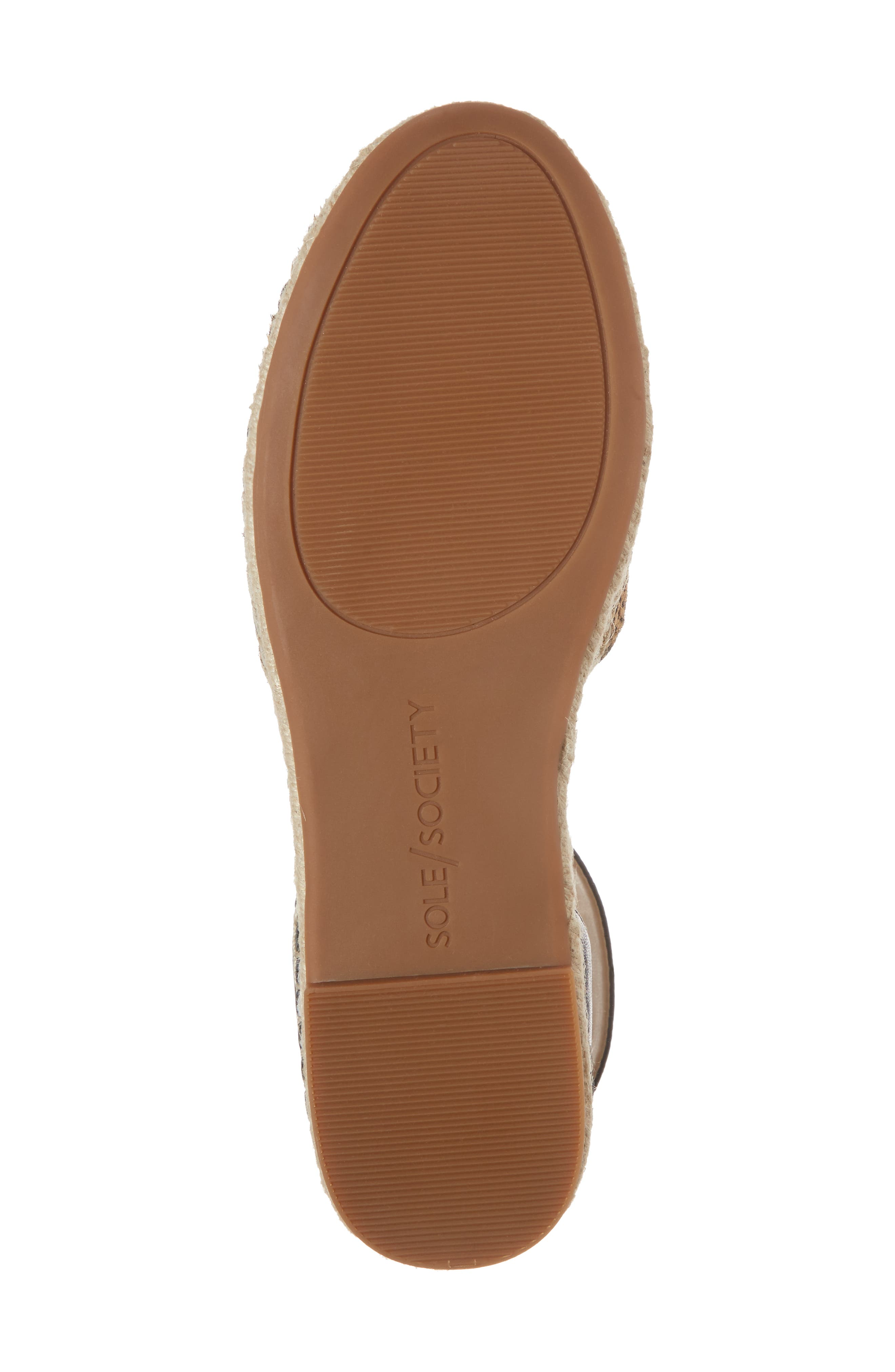Stacie Genuine Calf Hair Espadrille Sandal,                             Alternate thumbnail 6, color,                             Dotted Haircalf
