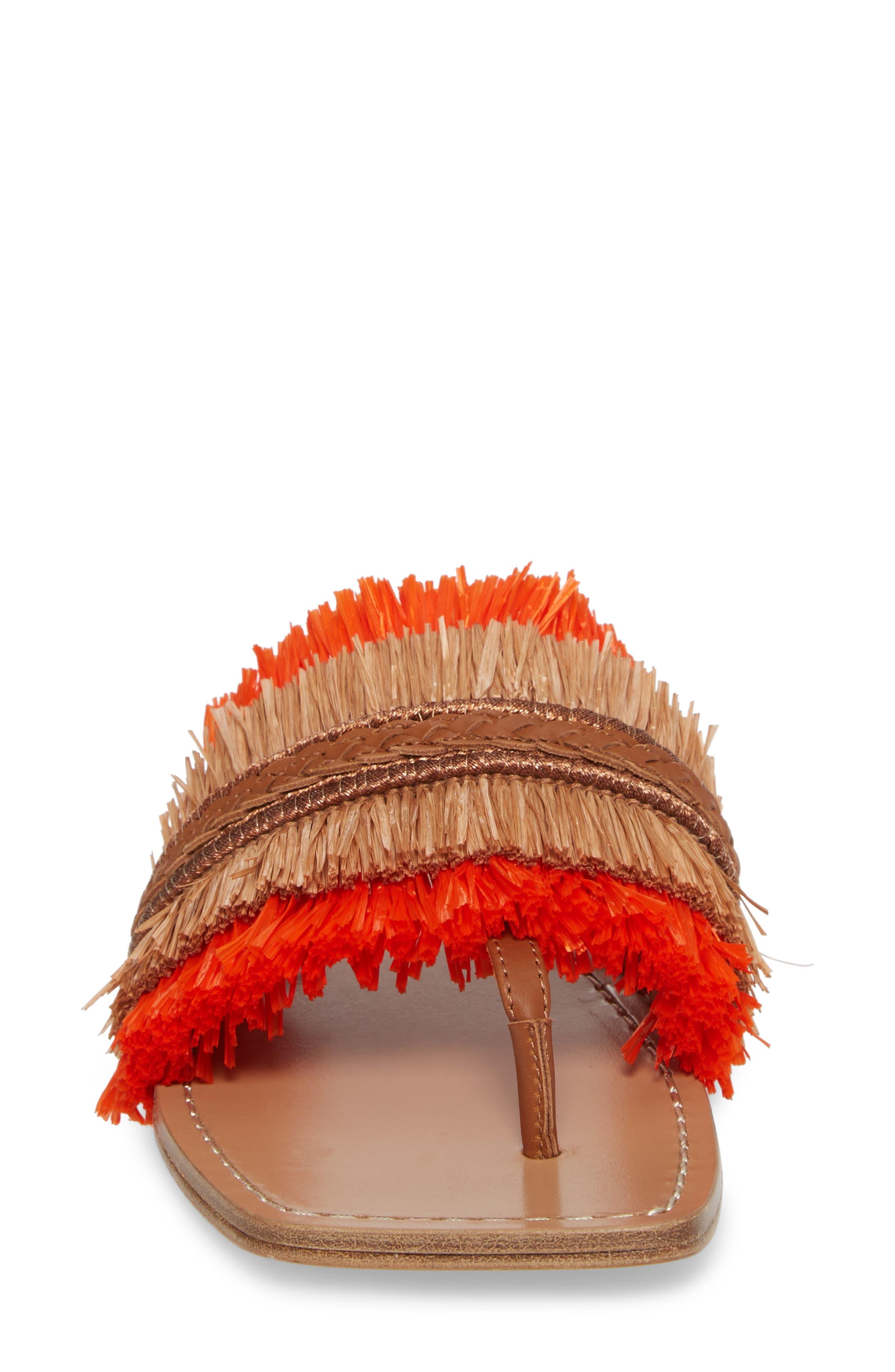 Woven Sandal,                             Alternate thumbnail 4, color,                             Tan/ Orange