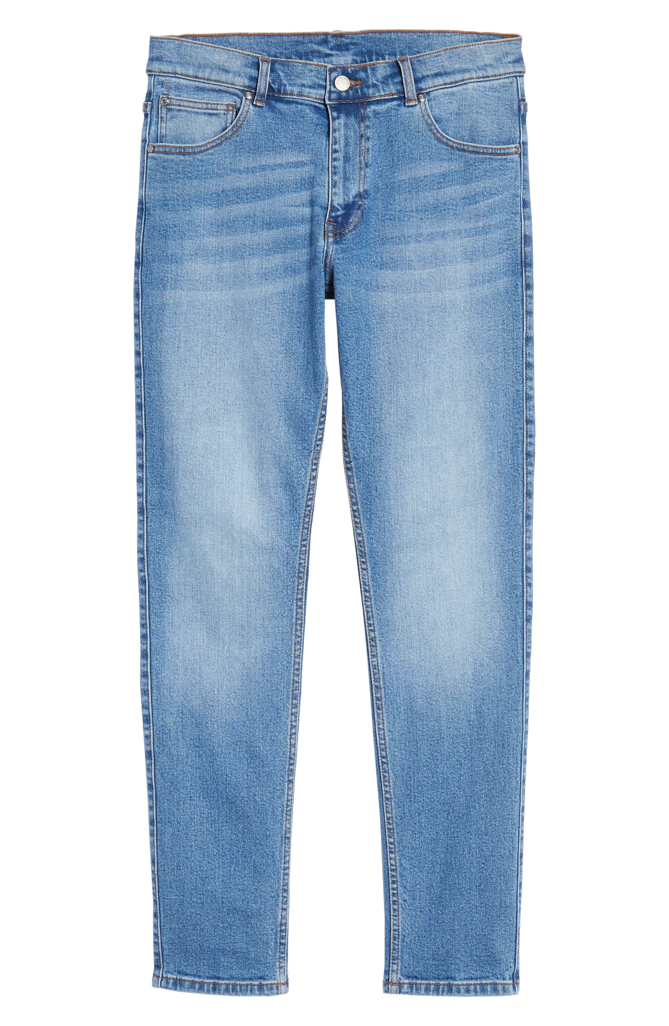 Clark Slim Straight Leg Jeans,                             Alternate thumbnail 6, color,                             Shaded Mid Blue