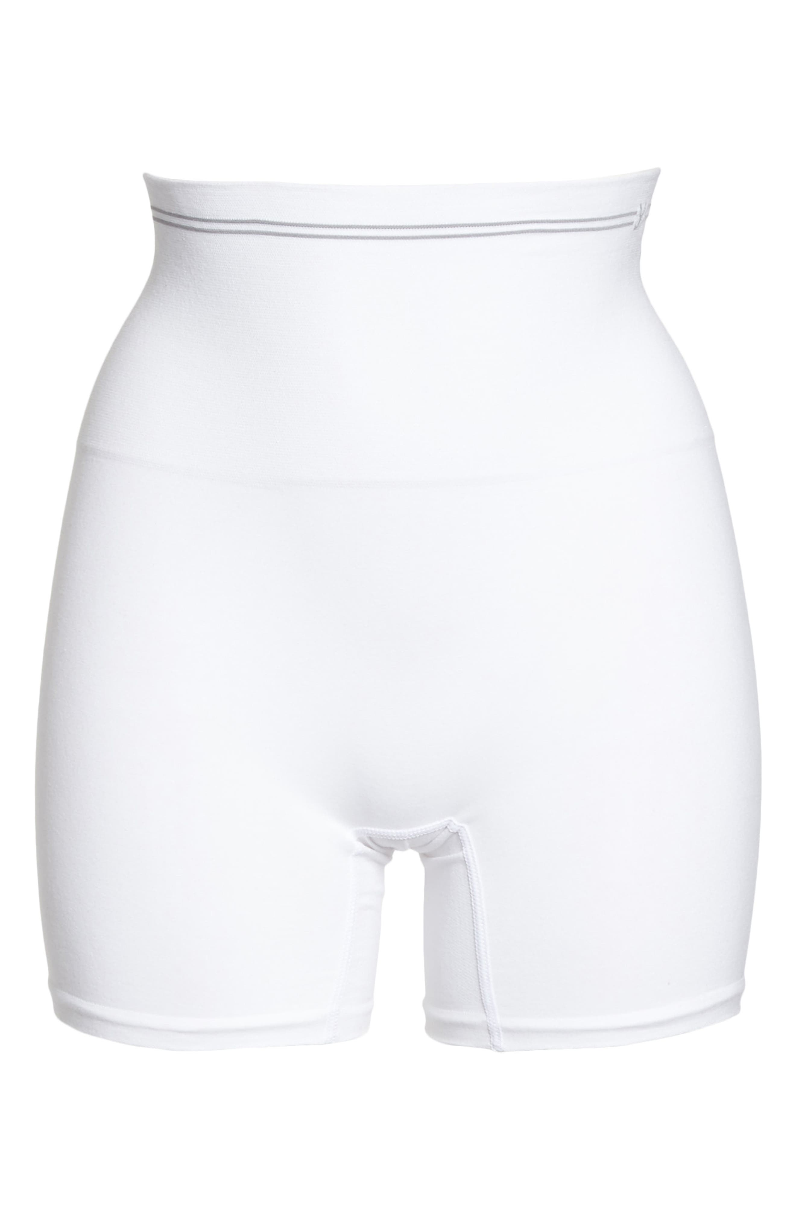 Seamless Shaping Shorts,                             Alternate thumbnail 4, color,                             White