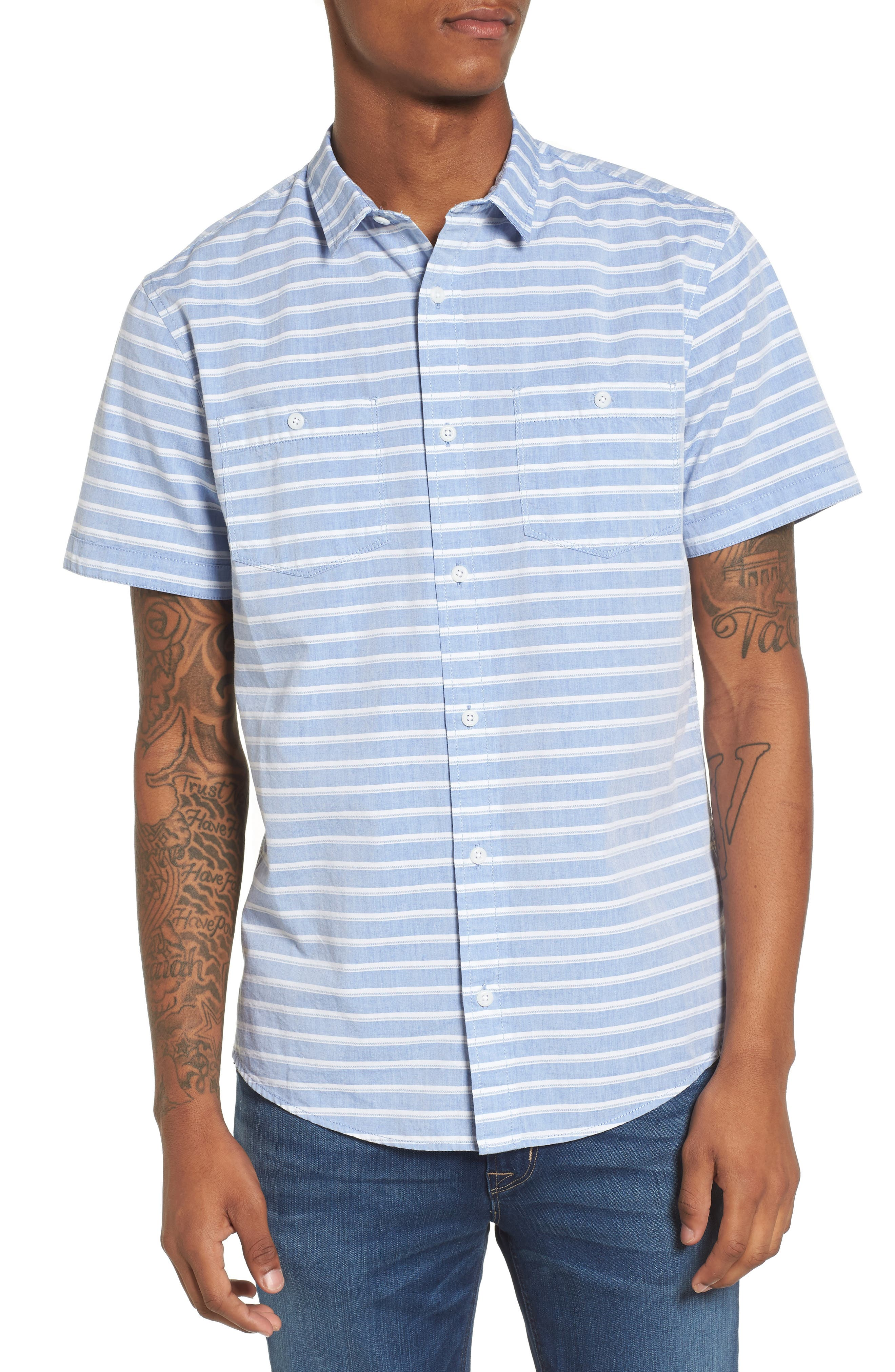 The Rail Texture Stripe Short Sleeve Shirt