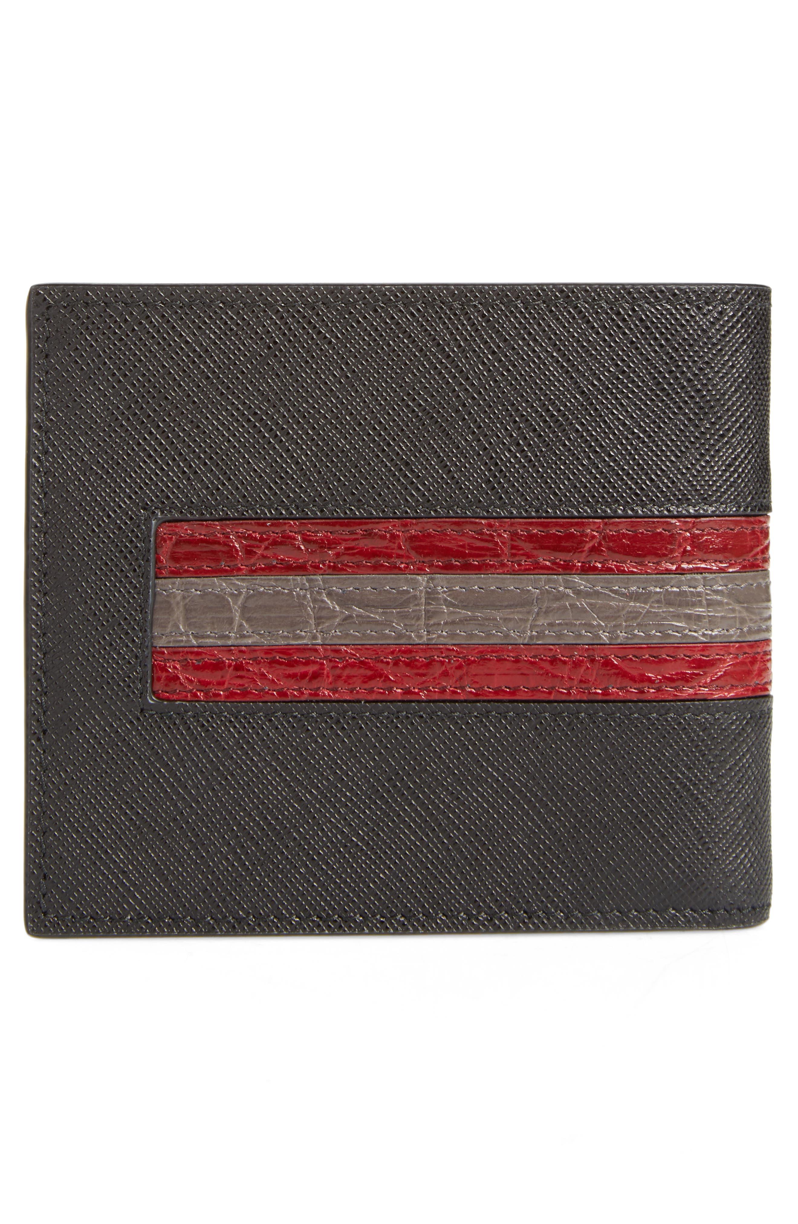Alternate Image 3  - Prada Saffiano and Crocodile Leather Wallet