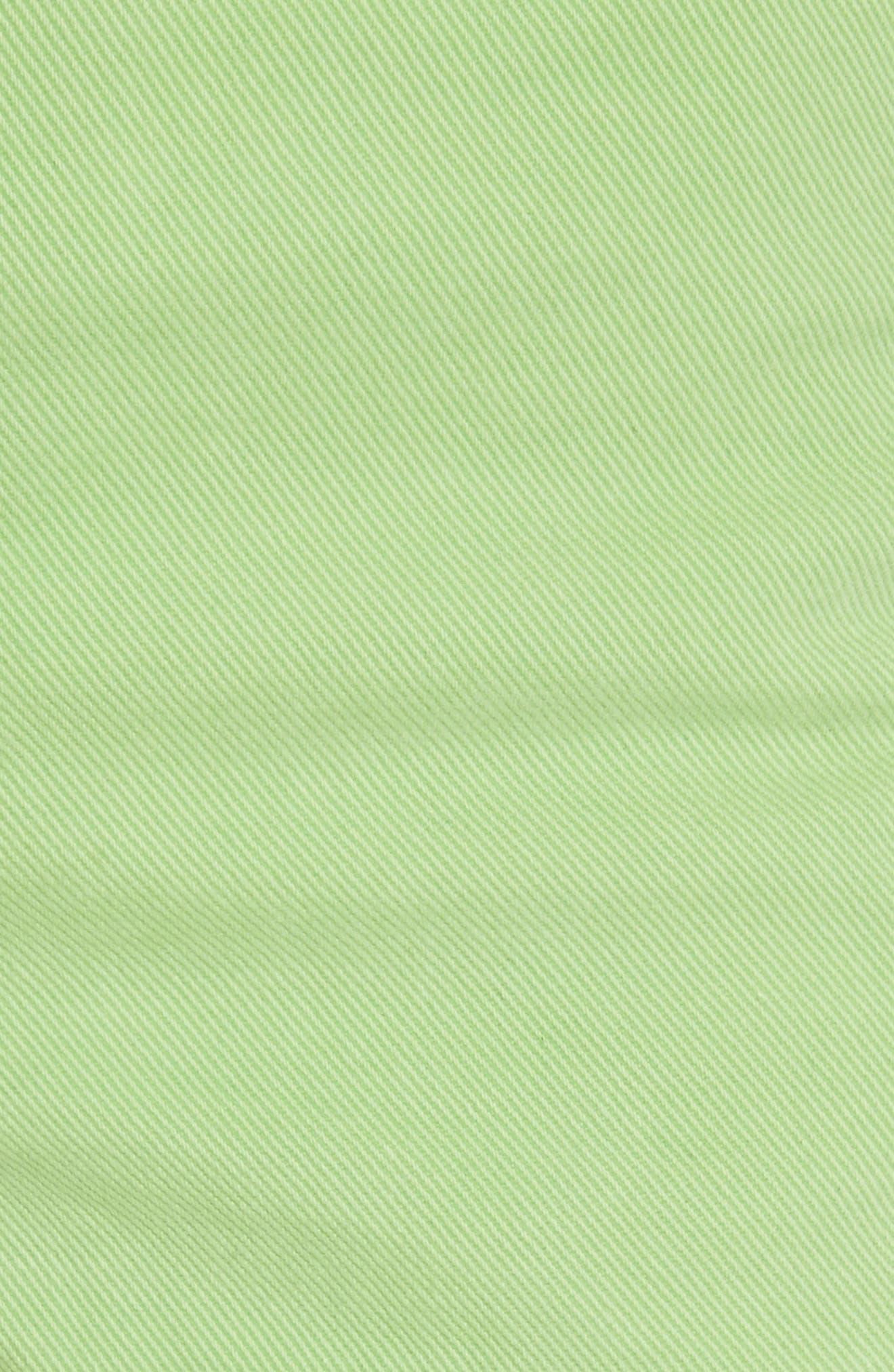 Justine High Waist Denim Shorts,                             Alternate thumbnail 6, color,                             Lime