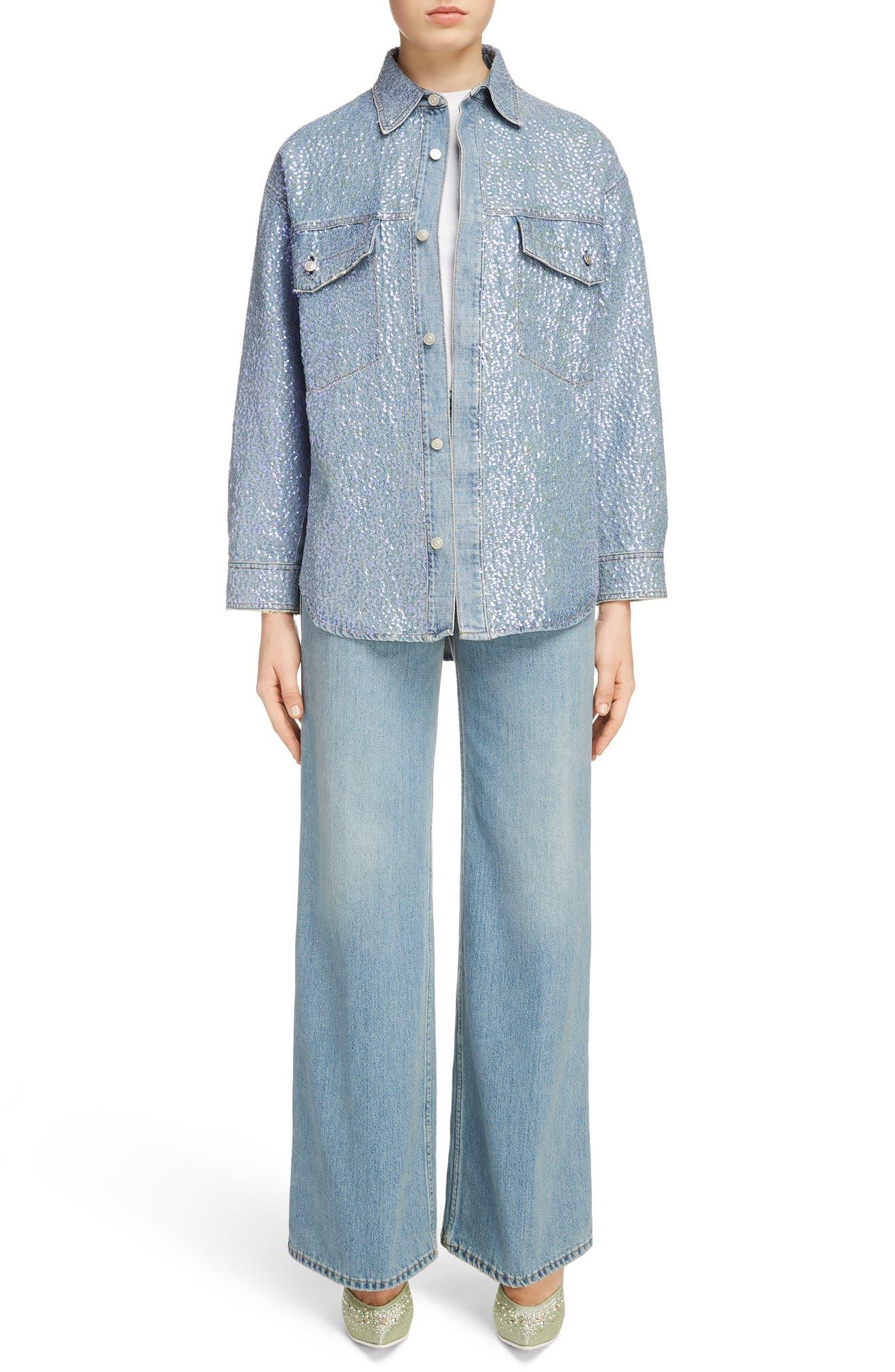 Tiffan Wide Leg Jeans,                             Alternate thumbnail 14, color,                             Blue Vintage