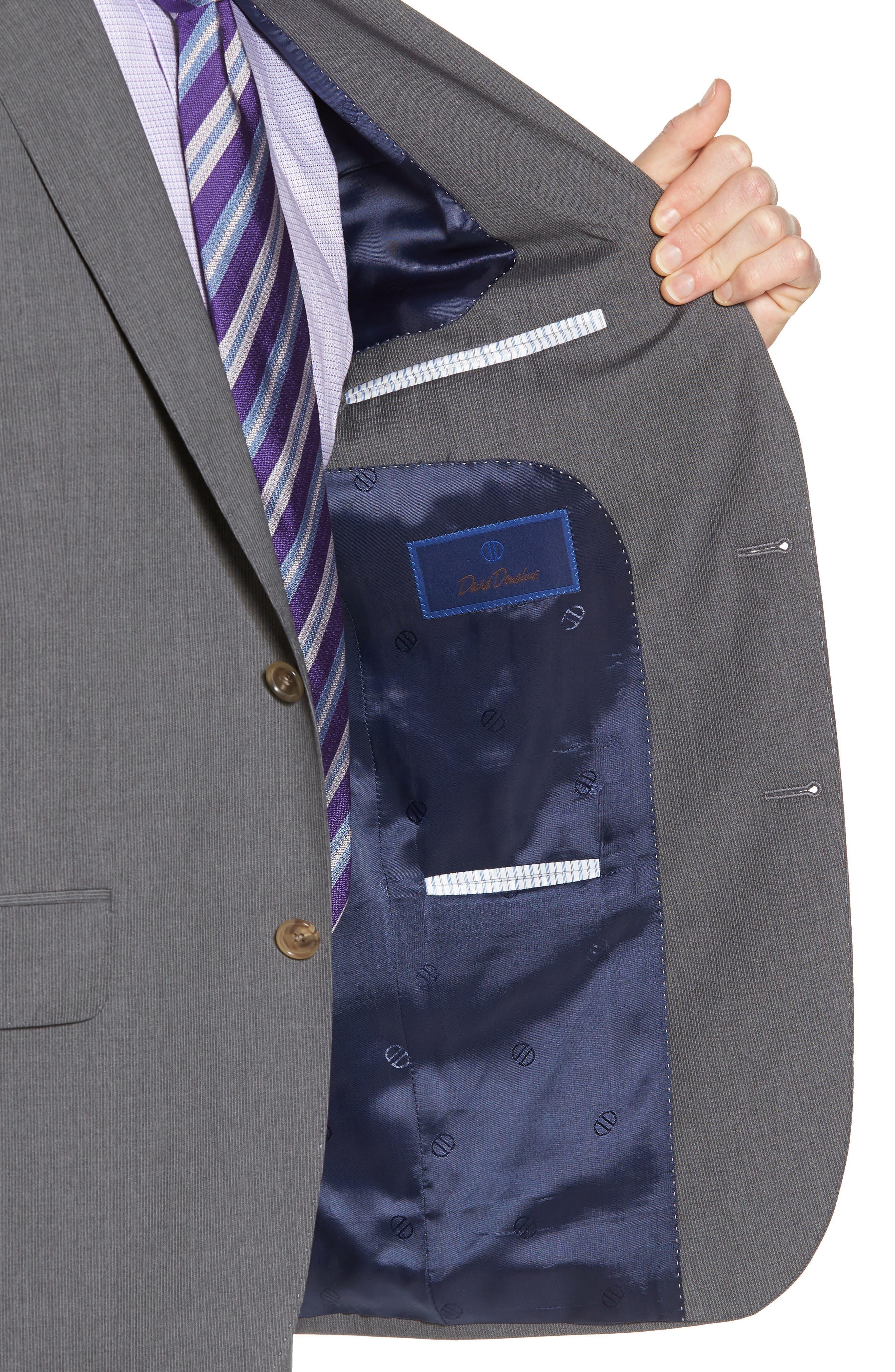Alternate Image 6  - David Donahue Ryan Classic Fit Stripe Wool Suit