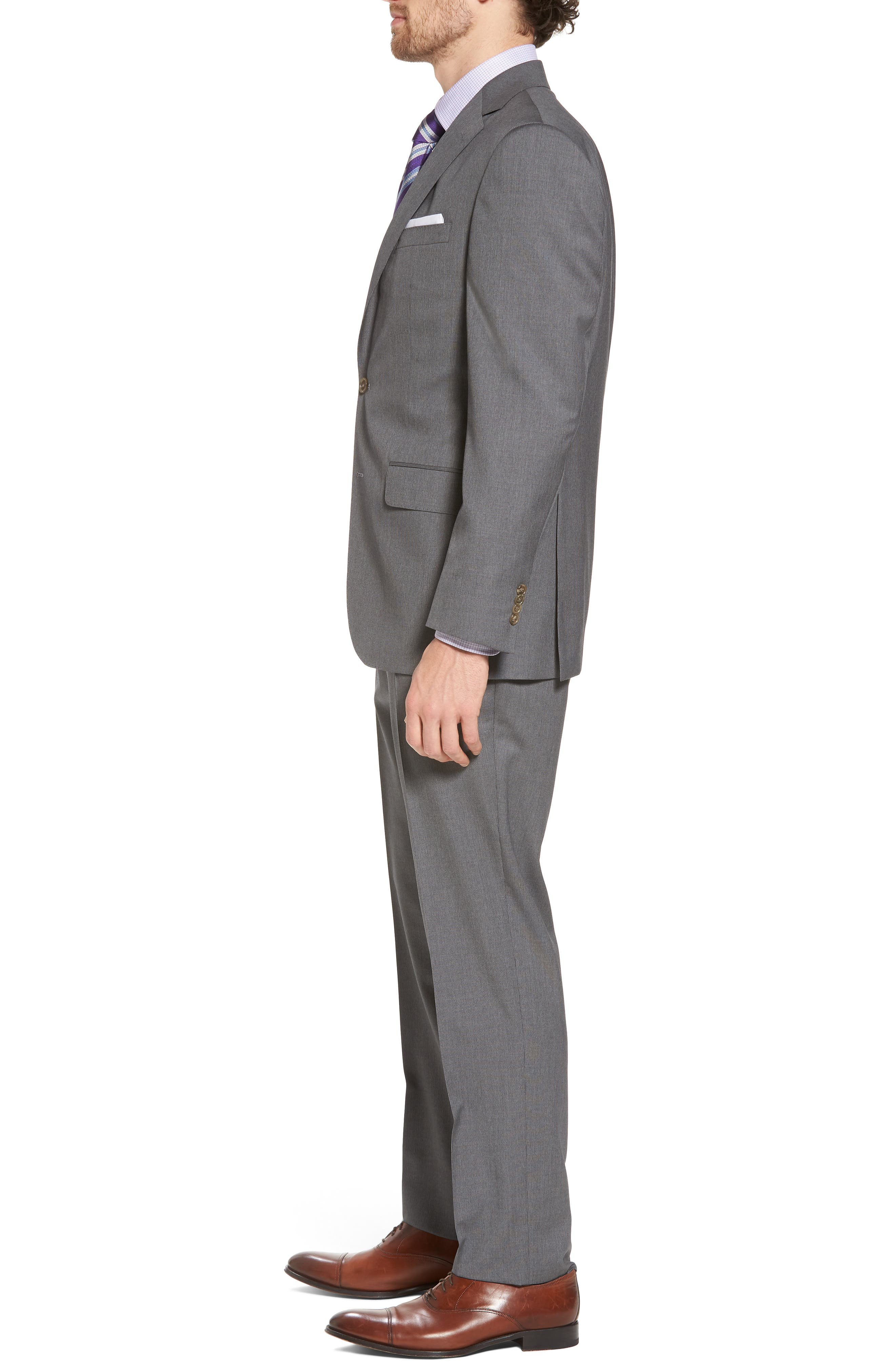 Alternate Image 3  - David Donahue Ryan Classic Fit Stripe Wool Suit
