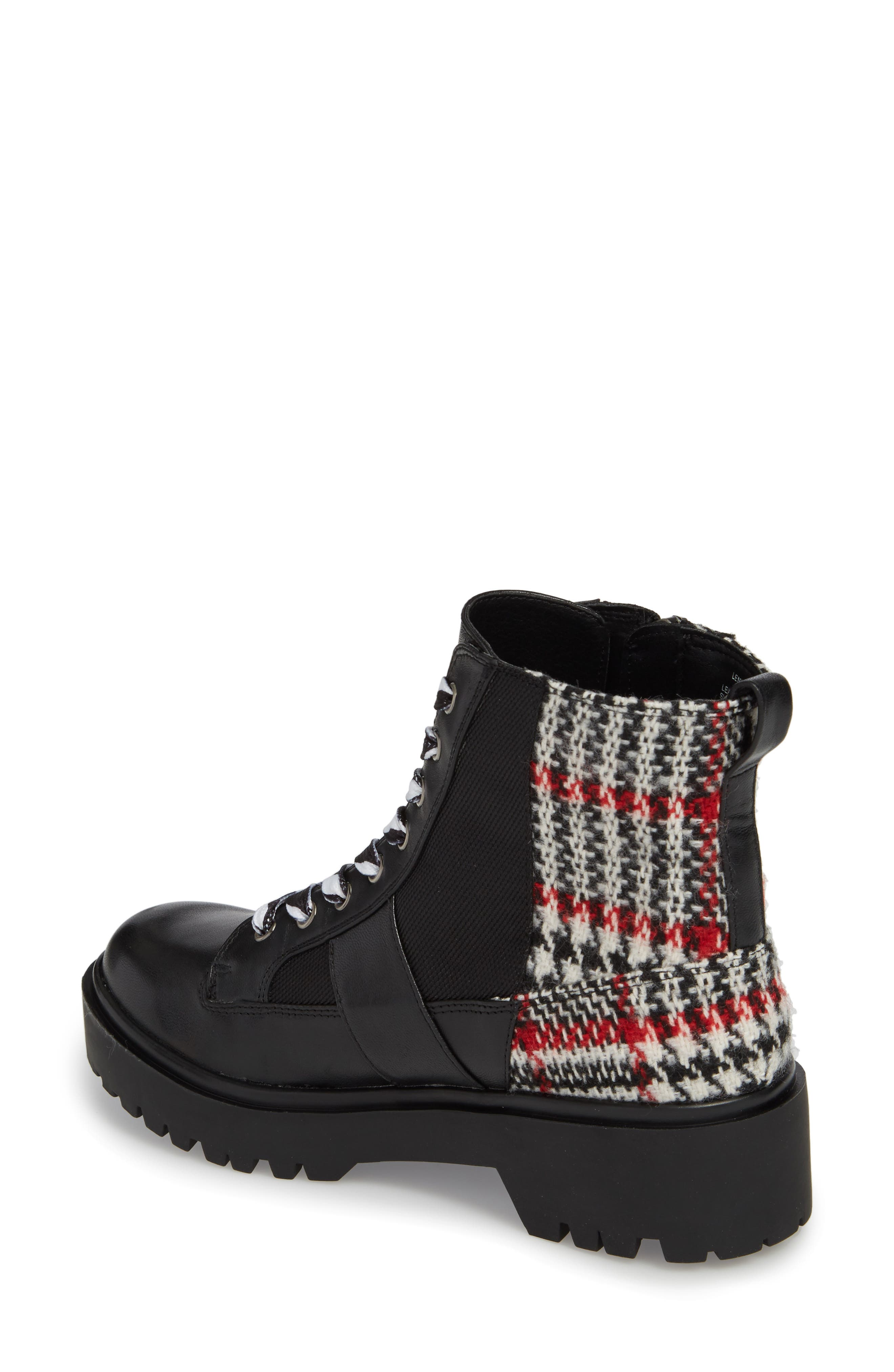 Lennox Combat Boot,                             Alternate thumbnail 2, color,                             Black Multi