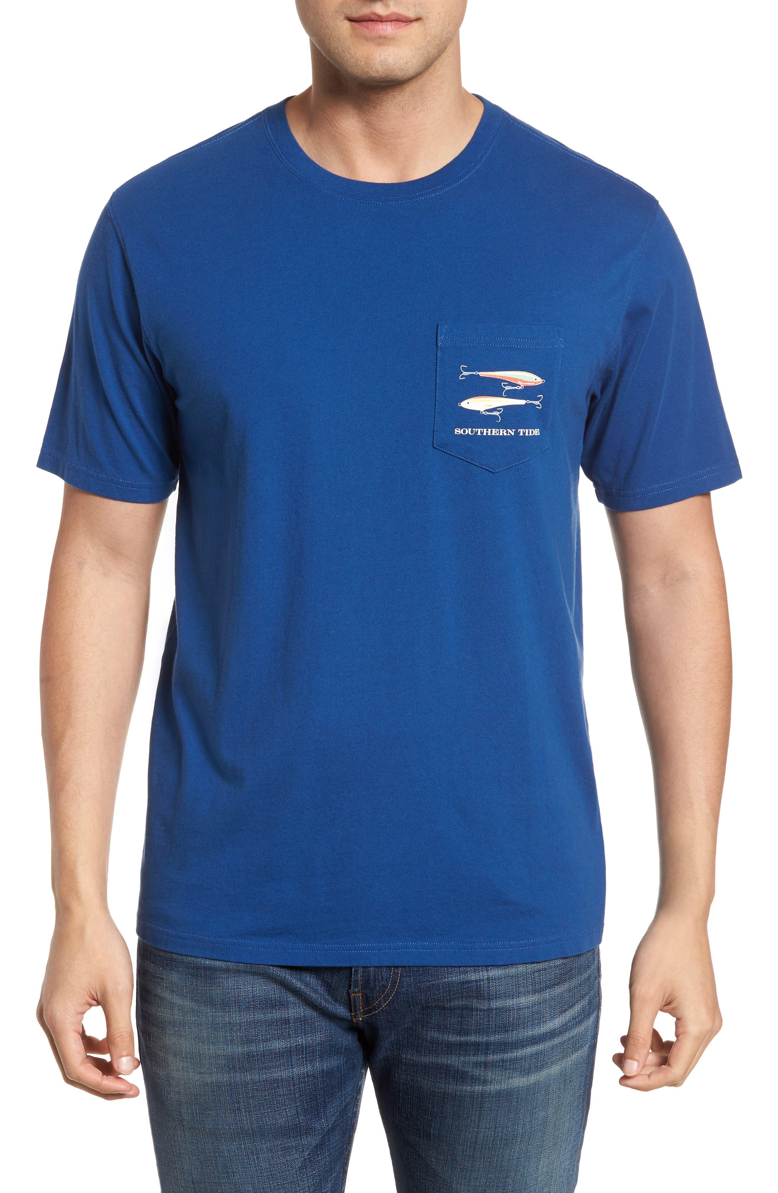 Hanging Out Regular Fit T-Shirt,                             Main thumbnail 1, color,                             Blue Lake