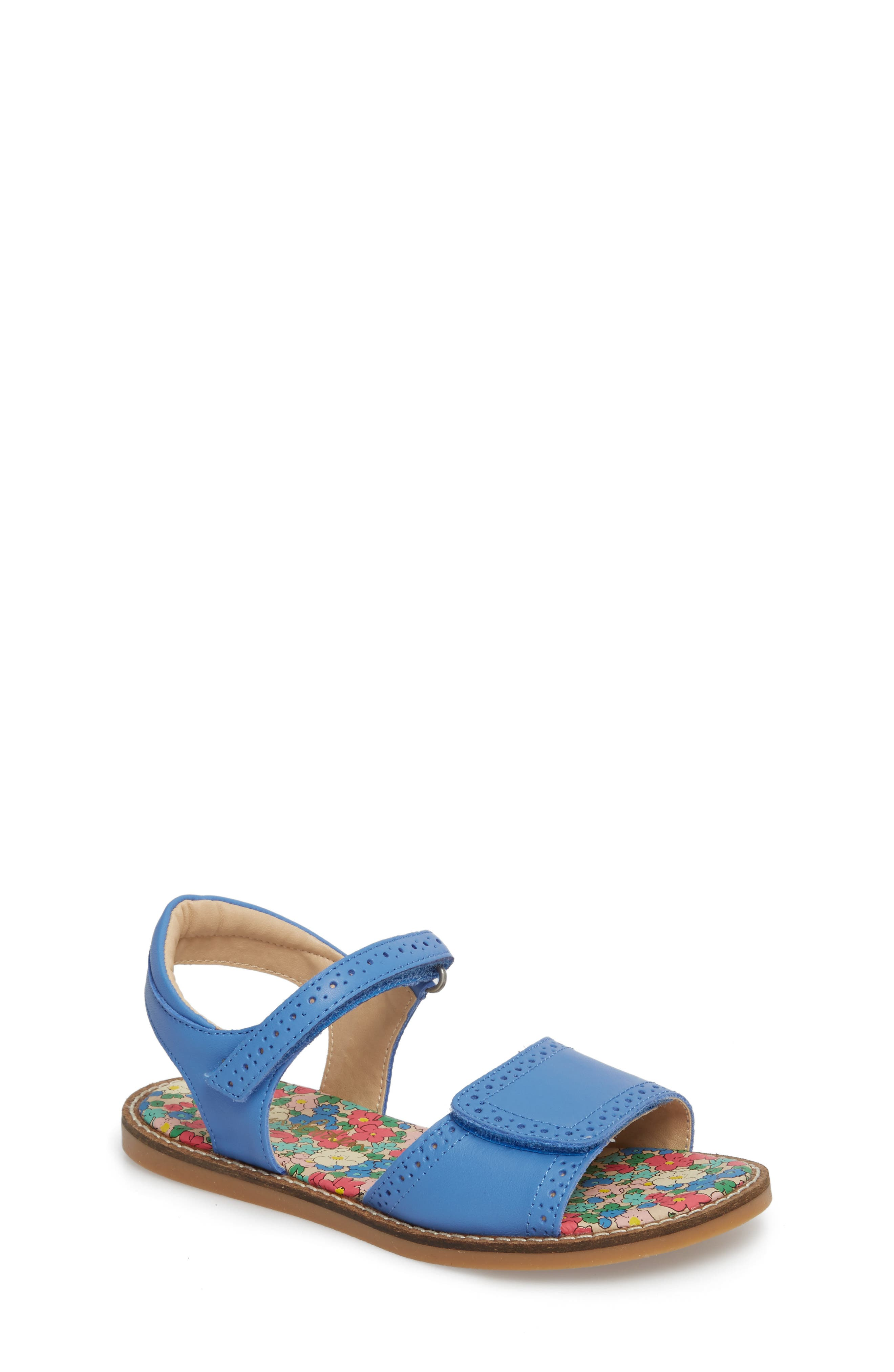 Adjustable Quarter Strap Sandal,                         Main,                         color, Penzance Blue