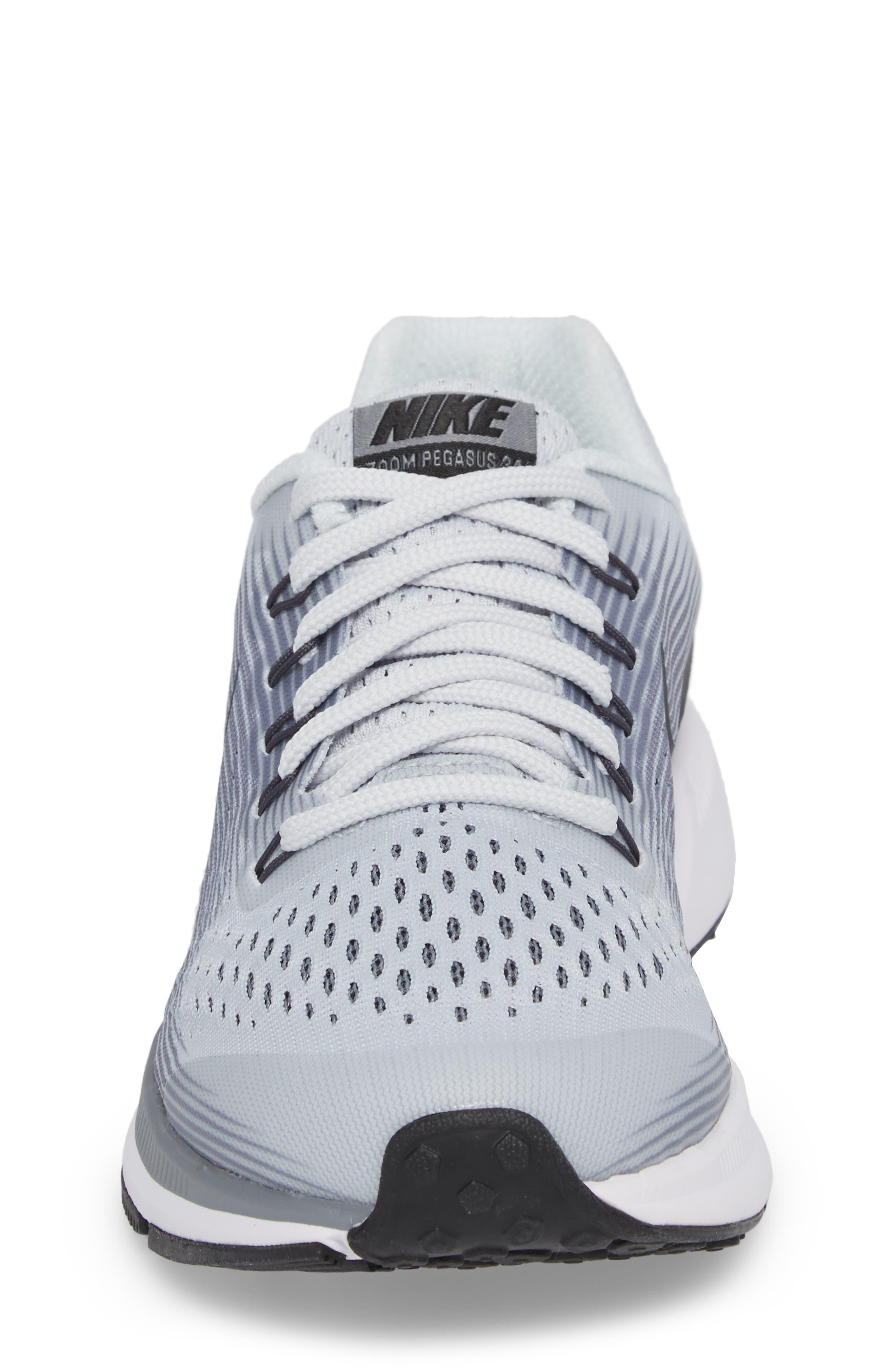 Zoom Pegasus 34 Sneaker,                             Alternate thumbnail 4, color,                             Platinum/ Anthracite/ Grey