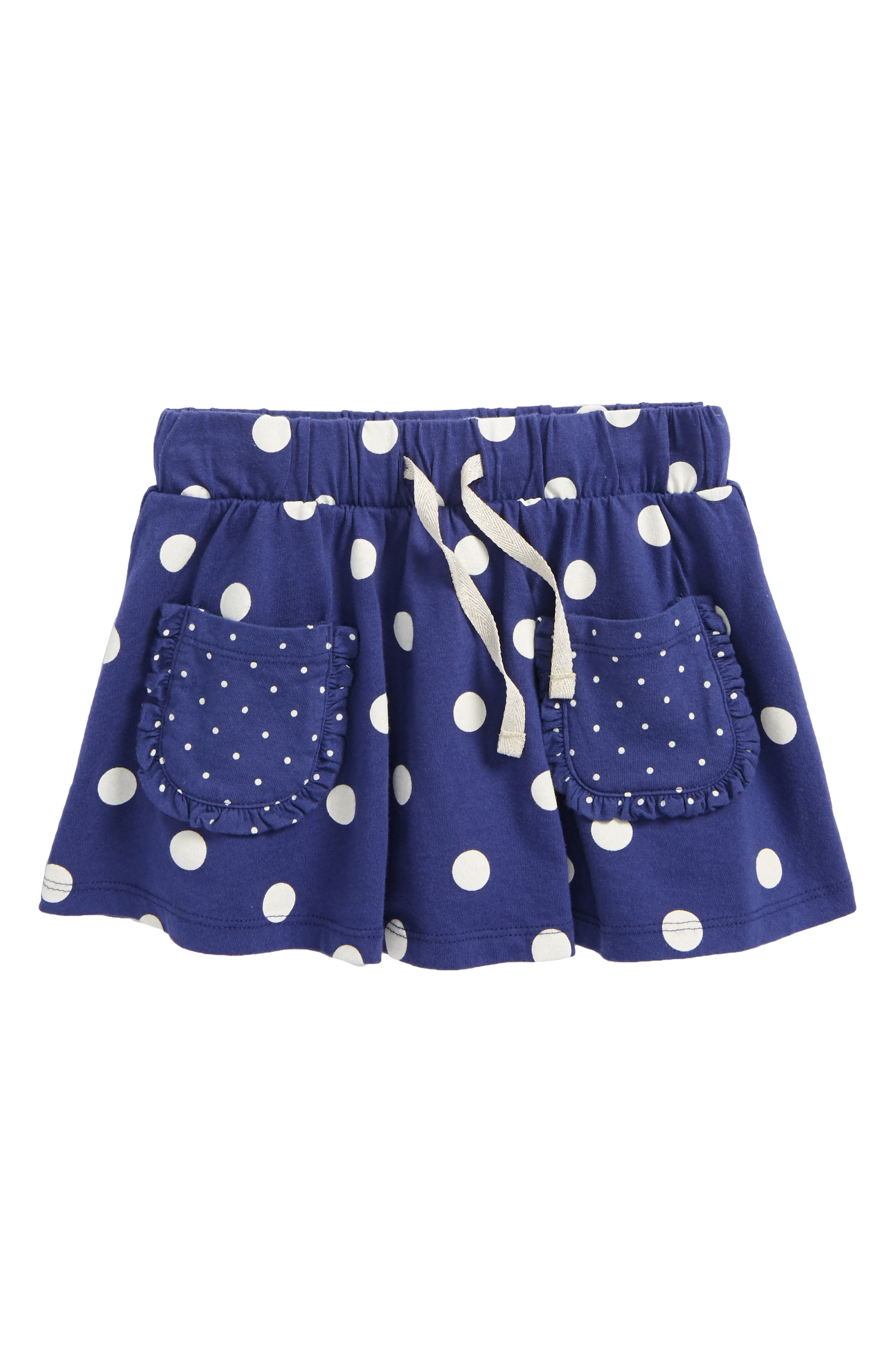 Spotty Jersey Skort,                             Main thumbnail 1, color,                             Starboard Blue Spot