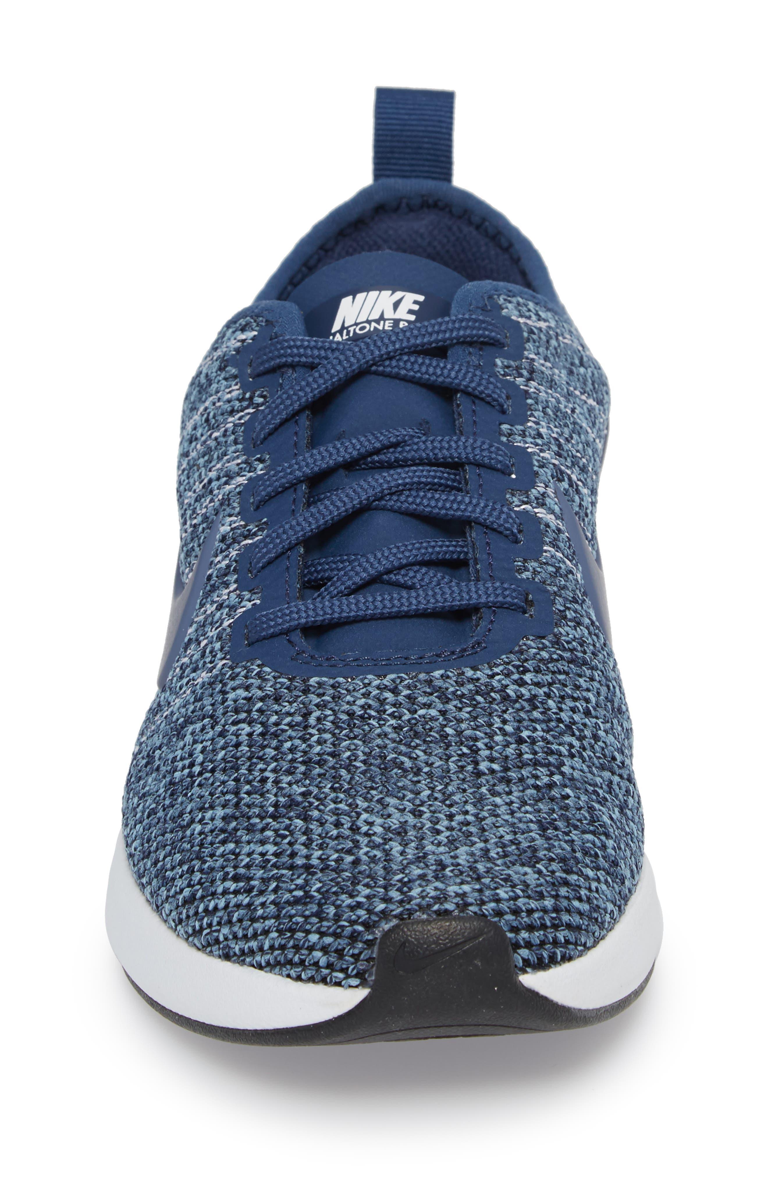 Dualtone Racer PRM Sneaker,                             Alternate thumbnail 4, color,                             Navy/ Diffused Blue
