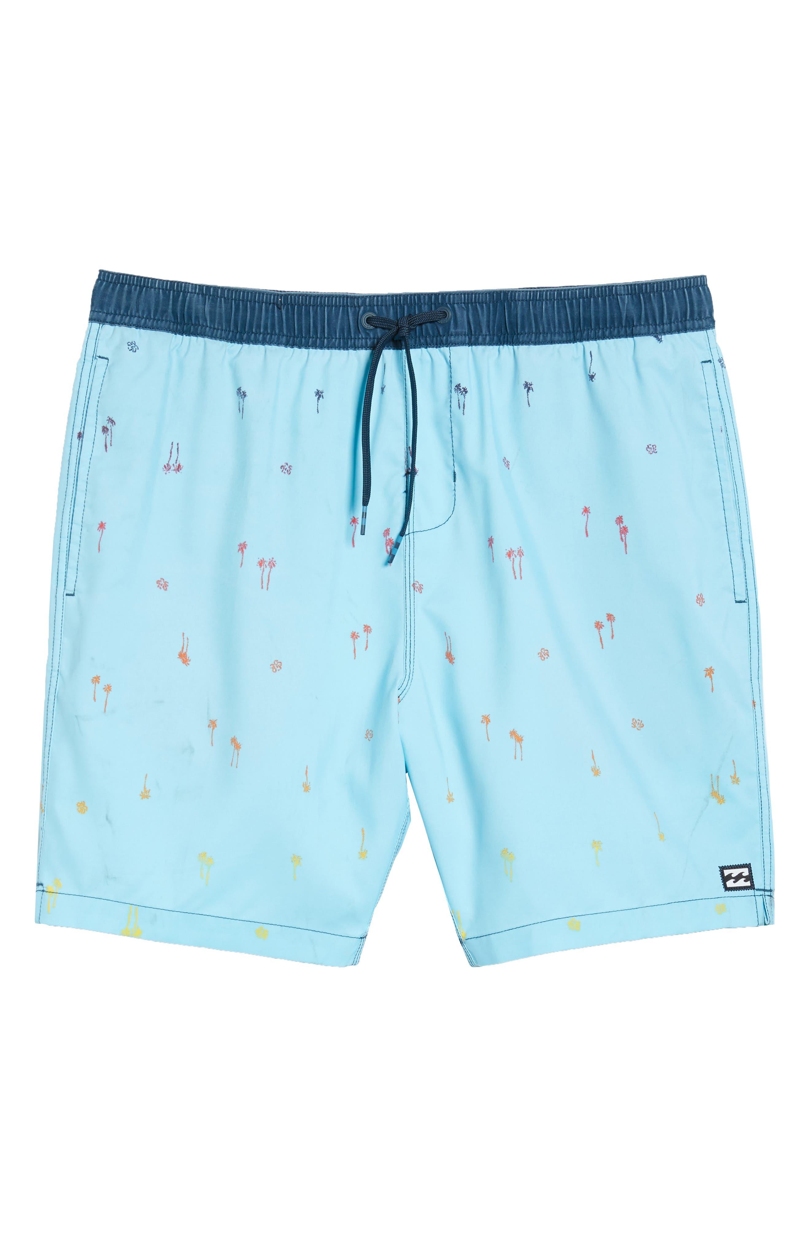 Sundays Layback Board Shorts,                             Alternate thumbnail 6, color,                             Light Blue
