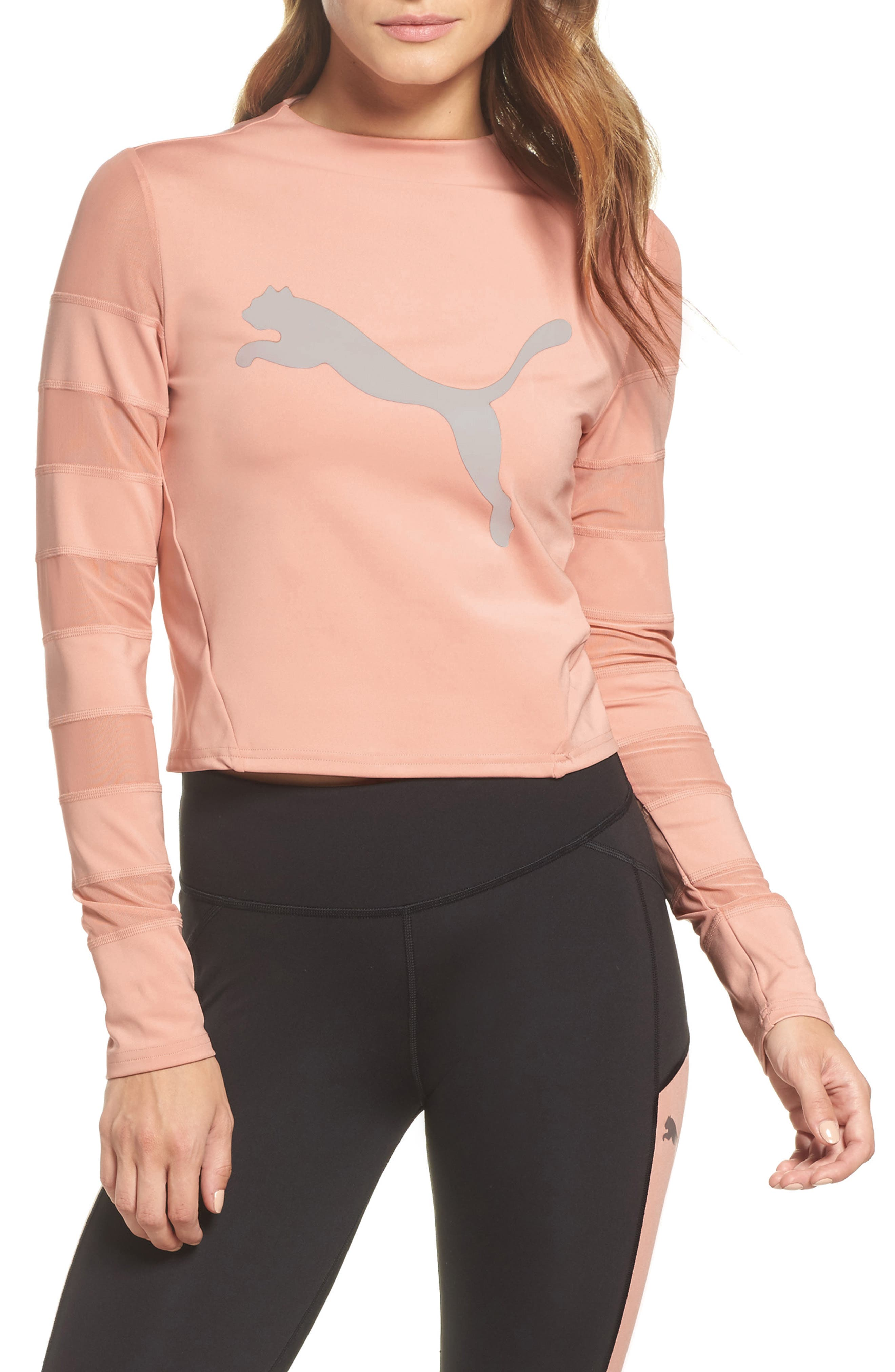 Strapped Up Tee,                         Main,                         color, Peach Beige-Peach Beige