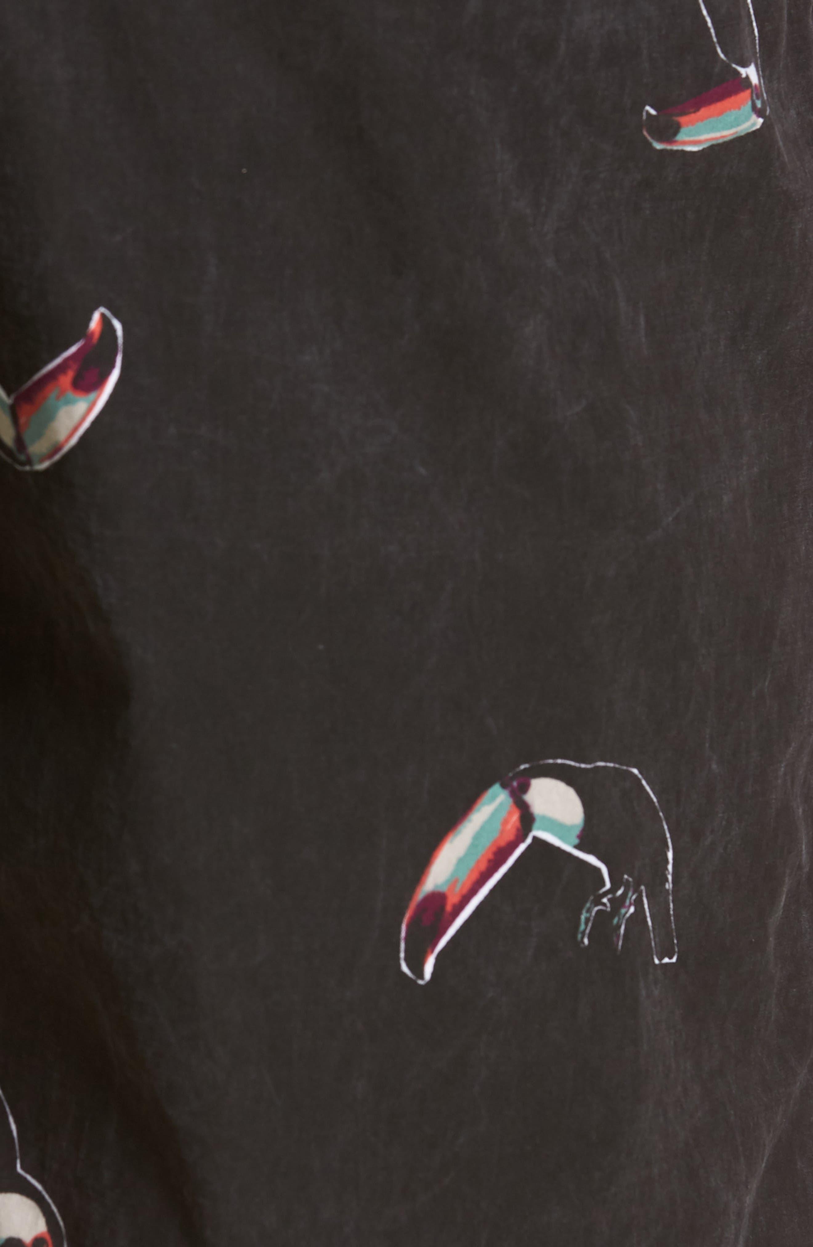 Tropicool Swim Trunks,                             Alternate thumbnail 5, color,                             Vintage Black