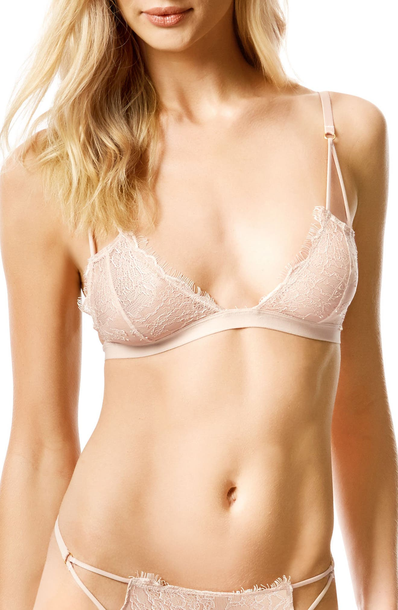 Lyra Soft Cup Bra,                         Main,                         color, Rose Dust
